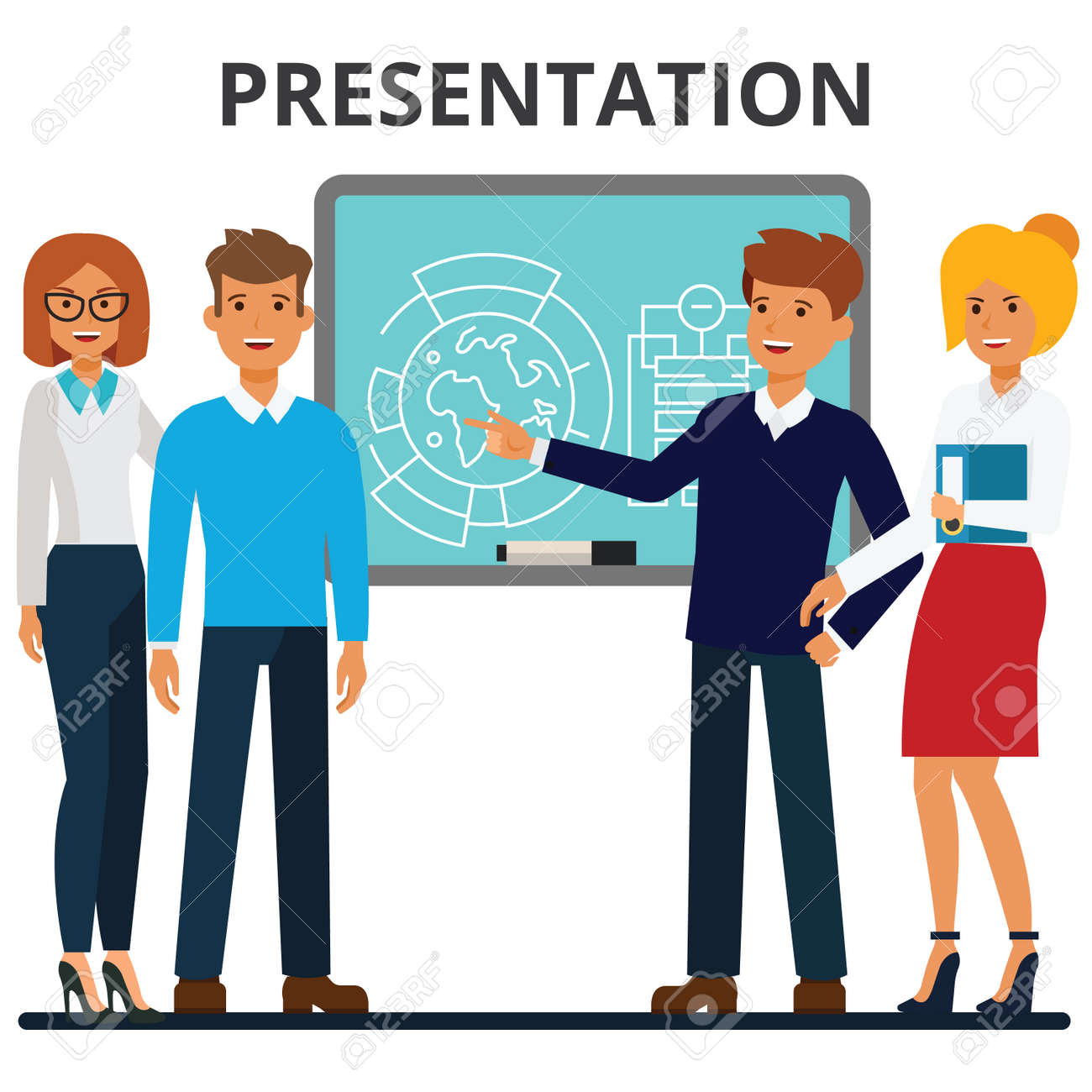 business presentation businessmen and businesswomen meeting rh 123rf com  free clipart images for business presentations