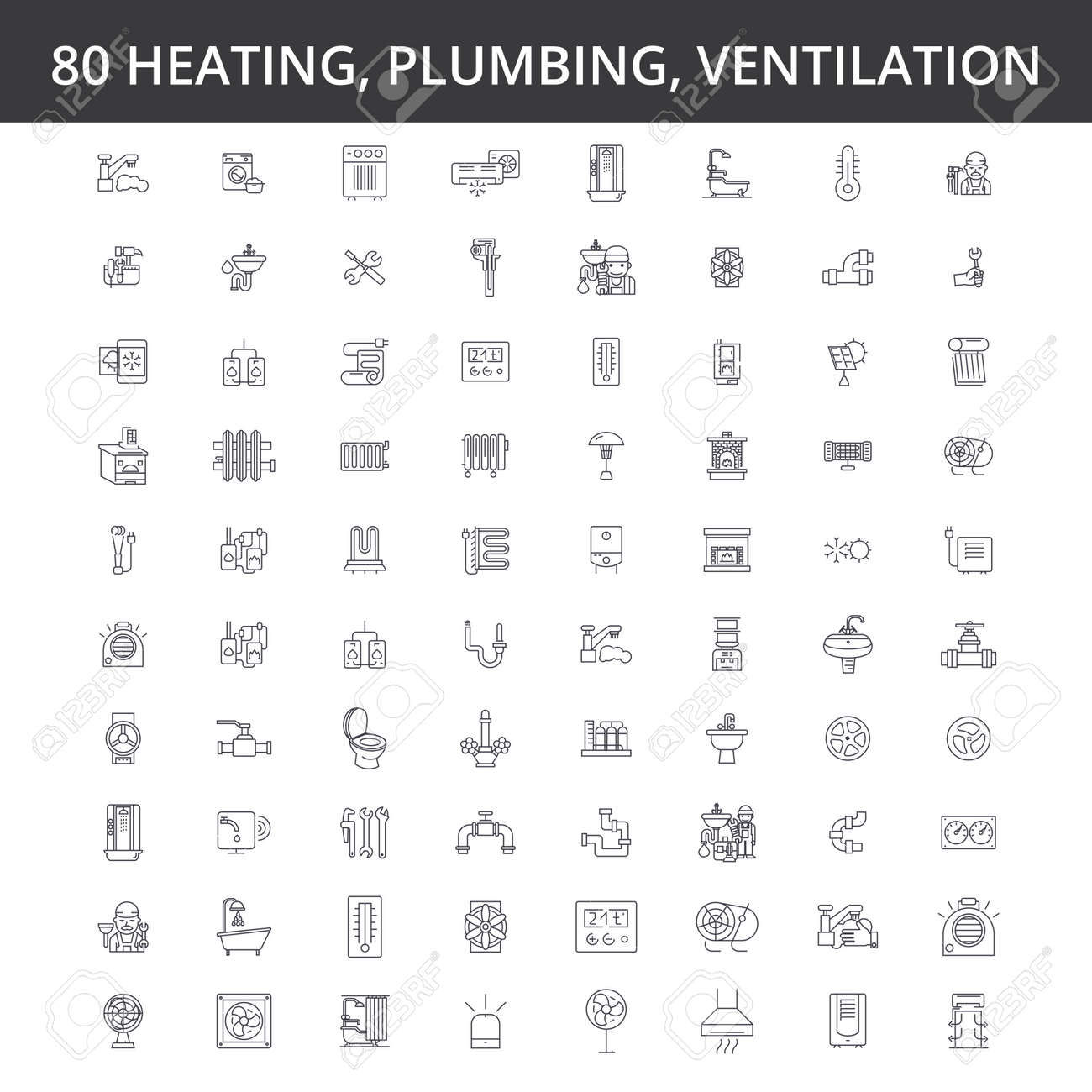 engineering line icons signs Illustration vector concept Editable strokes - 87792597