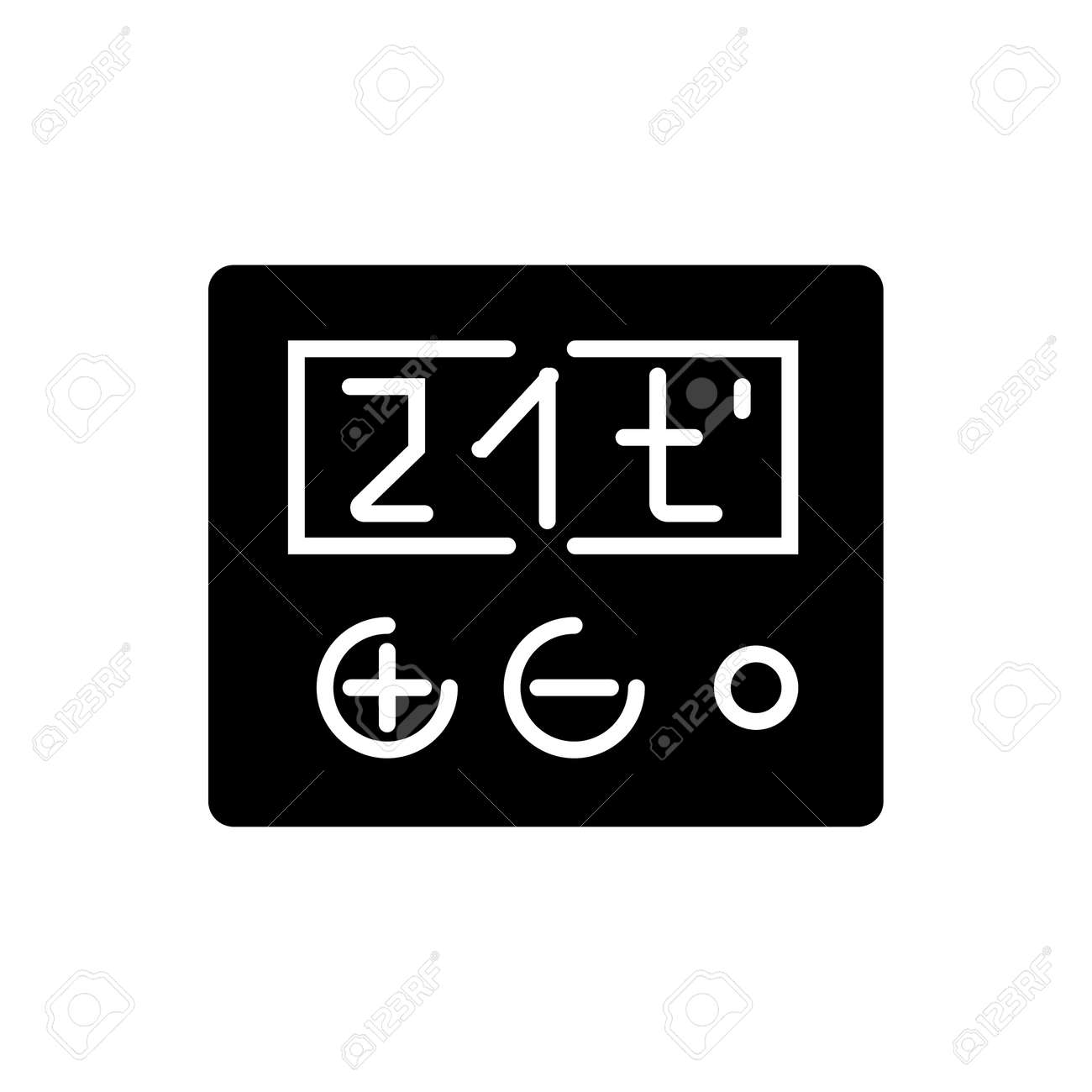 thermostat icon illustration vector sign on isolated background