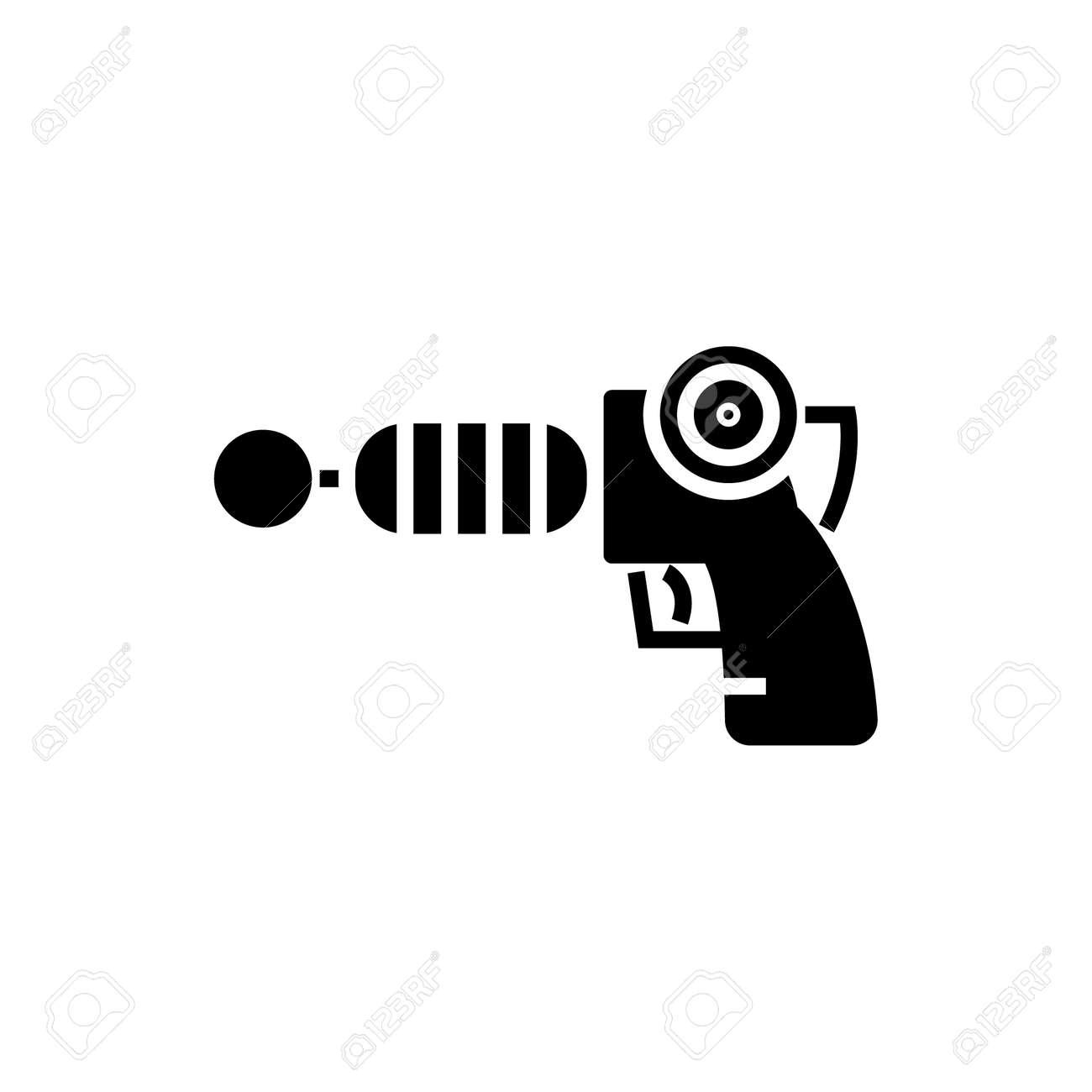 銃プラズマ スター ウォーズのアイコンイラストベクトルに孤立