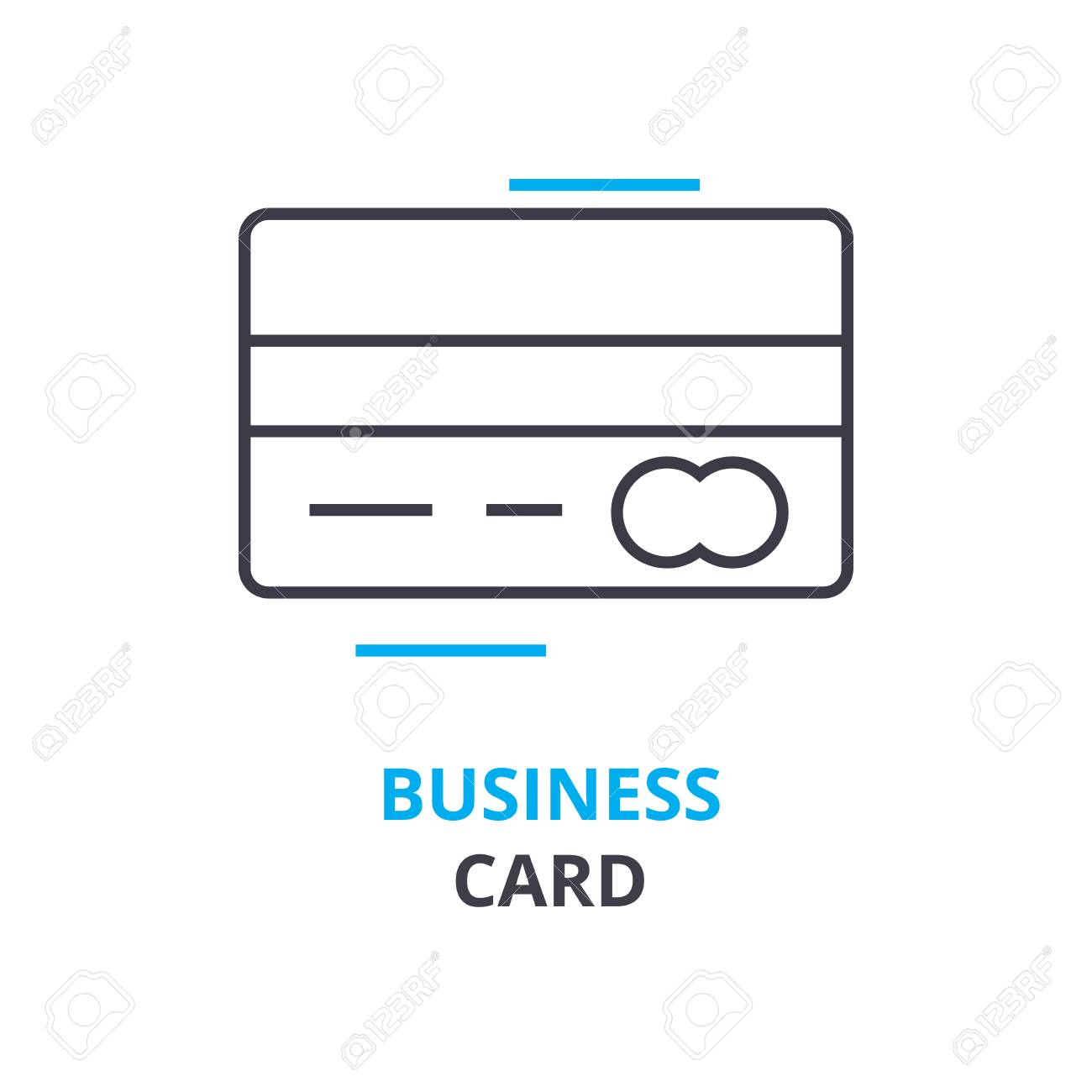 Business Card Concept, Outline Icon, Linear Sign, Thin Line ...