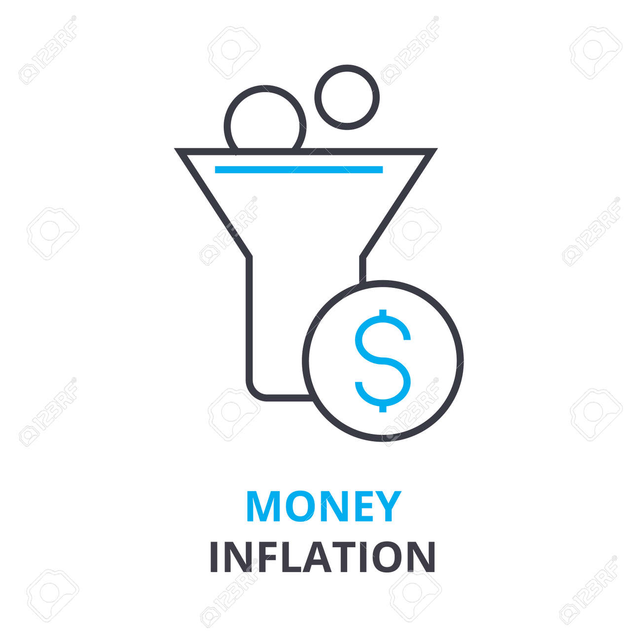 Money inflation concept outline icon linear sign thin line money inflation concept outline icon linear sign thin line pictogram logo ccuart Image collections