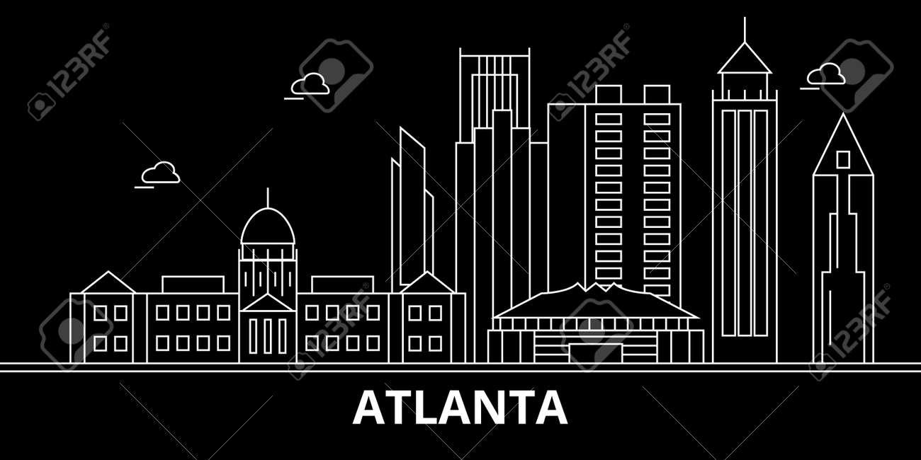 atlanta city silhouette skyline usa atlanta city vector city