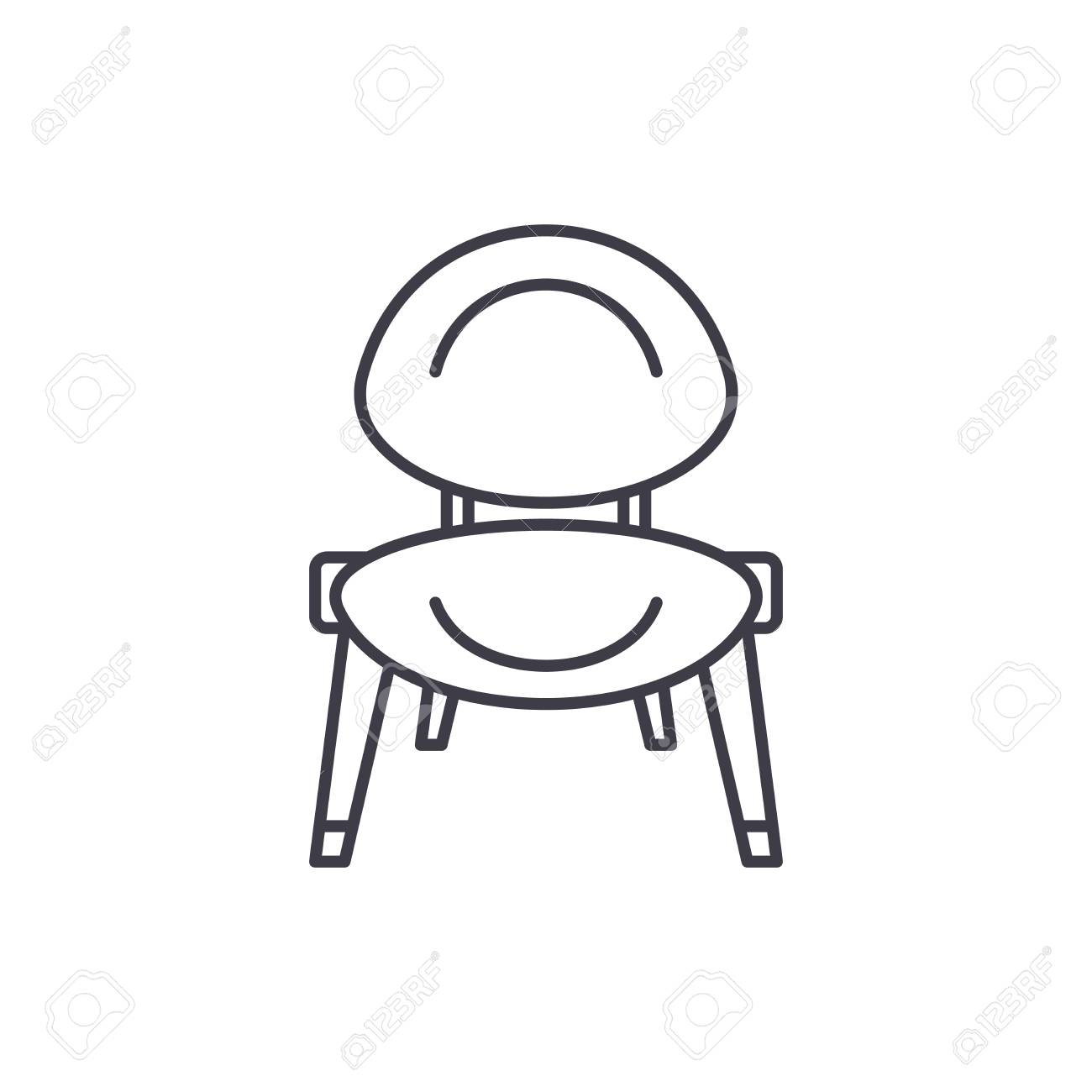 Baby Chair Line Icon Concept Baby Chair Vector Linear
