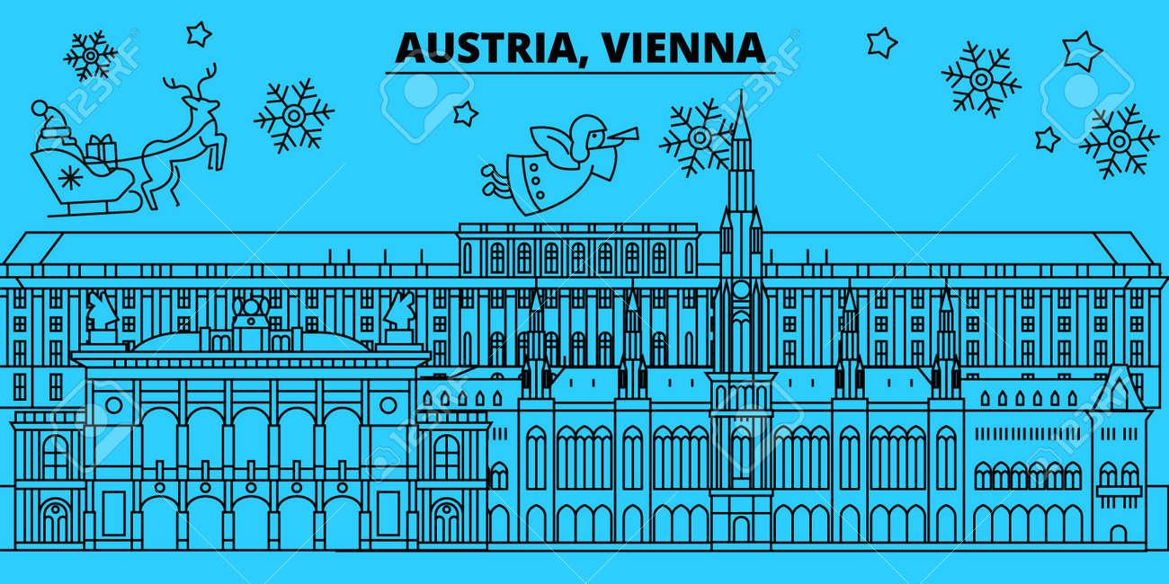 Christmas In Austria Holidays.Austria Vienna City Winter Holidays Skyline Merry Christmas