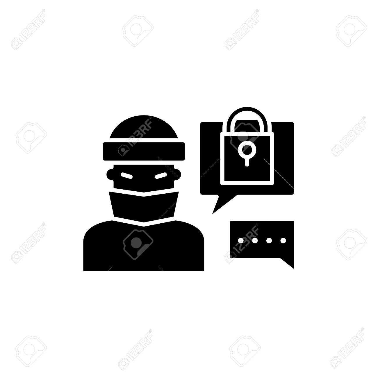 Hacking Access System Black Icon Concept Vector Sign On Isolated Royalty Free Cliparts Vectors And Stock Illustration Image 127290328