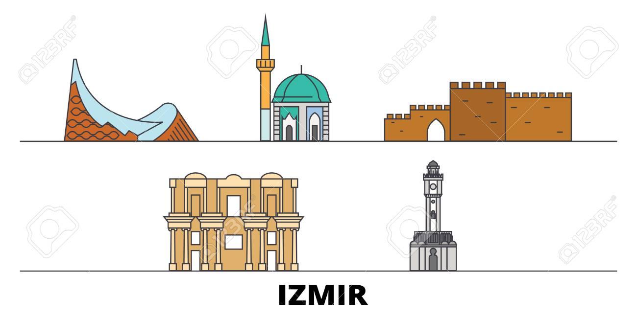 Turkey Izmir Flat Landmarks Vector Illustration Turkey Izmir Royalty Free Cliparts Vectors And Stock Illustration Image 122519470