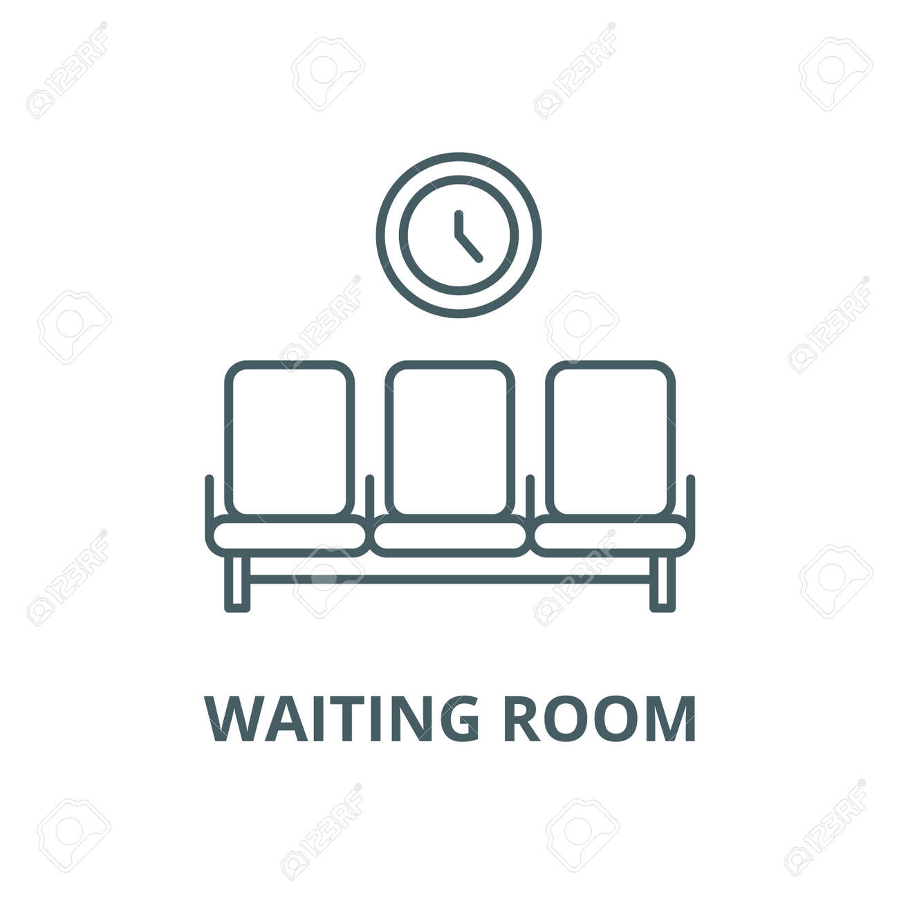 Waiting room vector line icon, outline concept, linear sign - 122415478