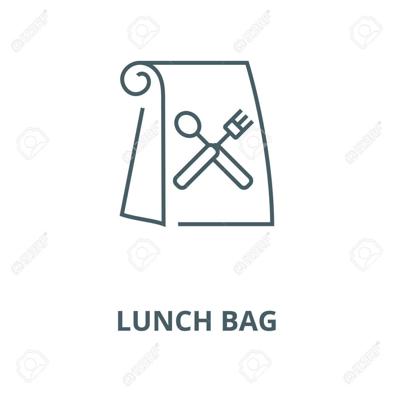 Lunch bag vector line icon, outline concept, linear sign - 122415941