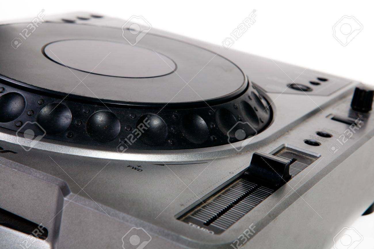 Old DJ turntable disk, close up Stock Photo - 12899550