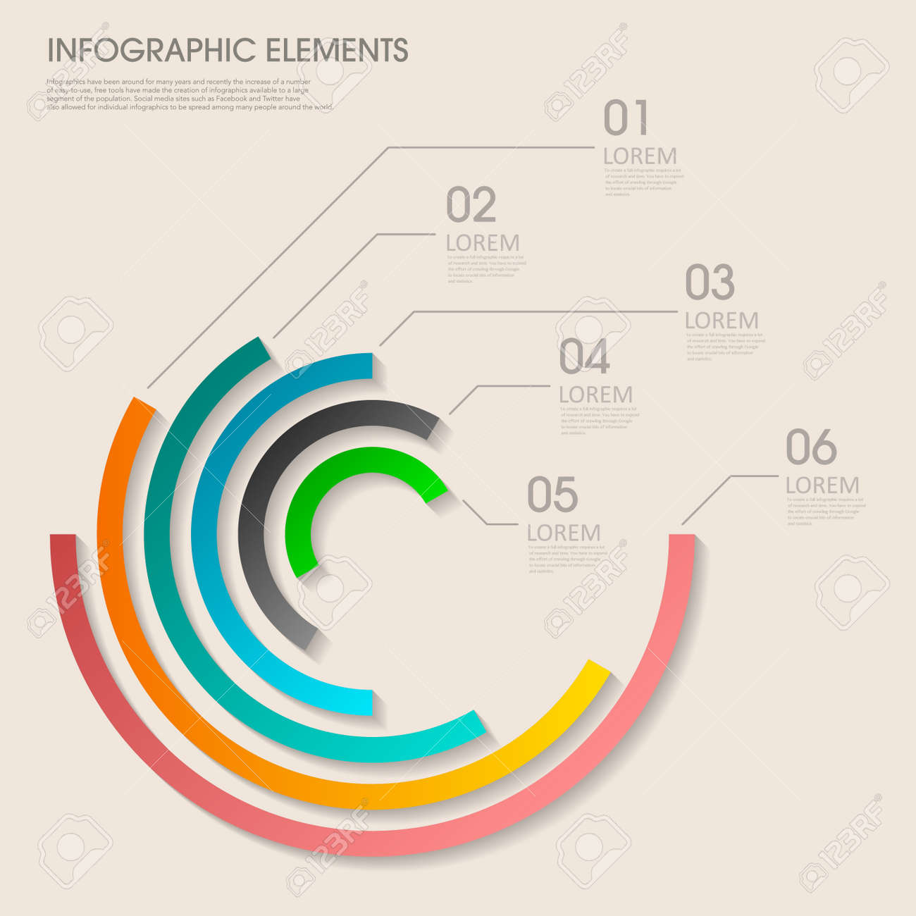 modern vector abstract pie chart infographic elements can be