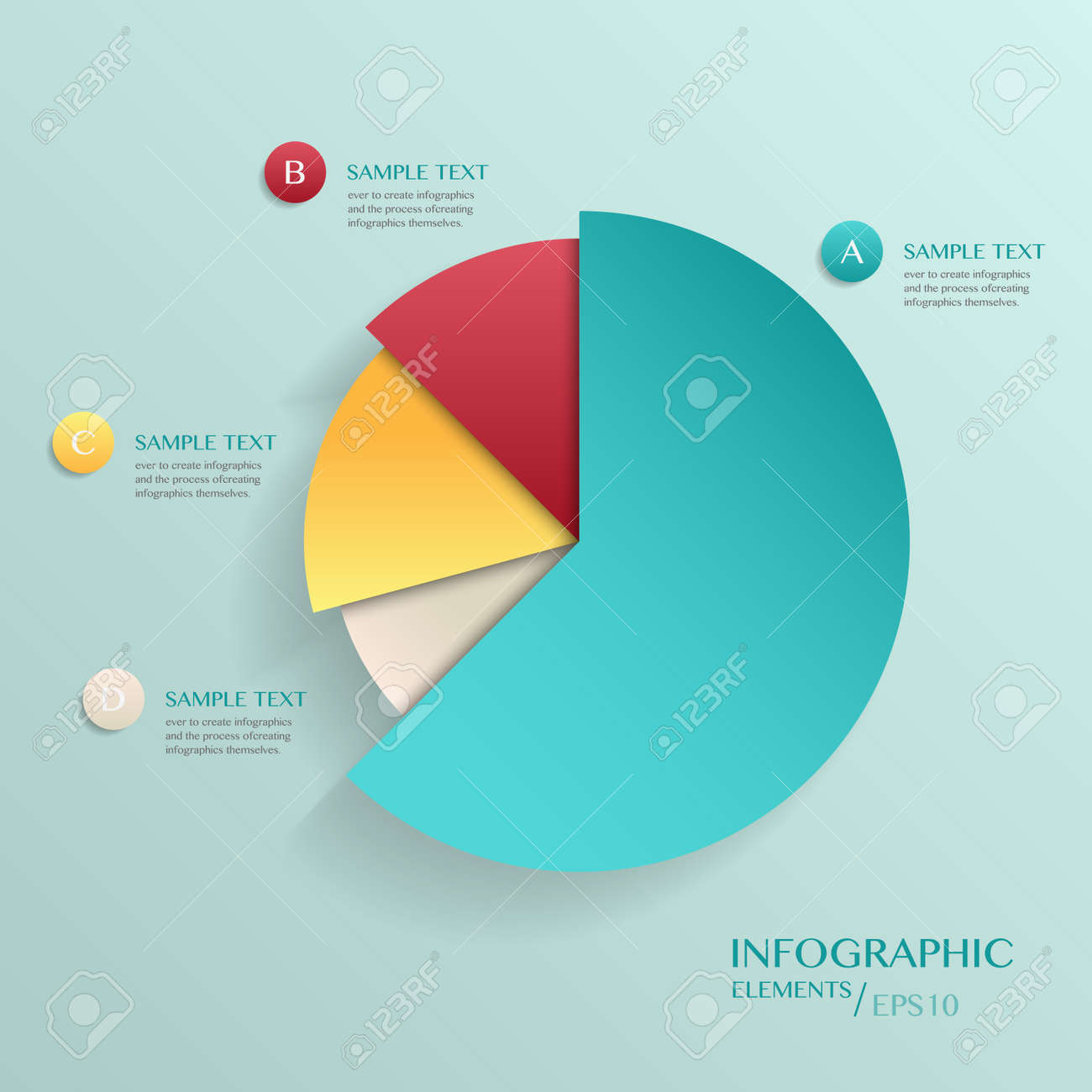 Modern Vector Abstract Pie Chart Infographic Elements.can Be ...