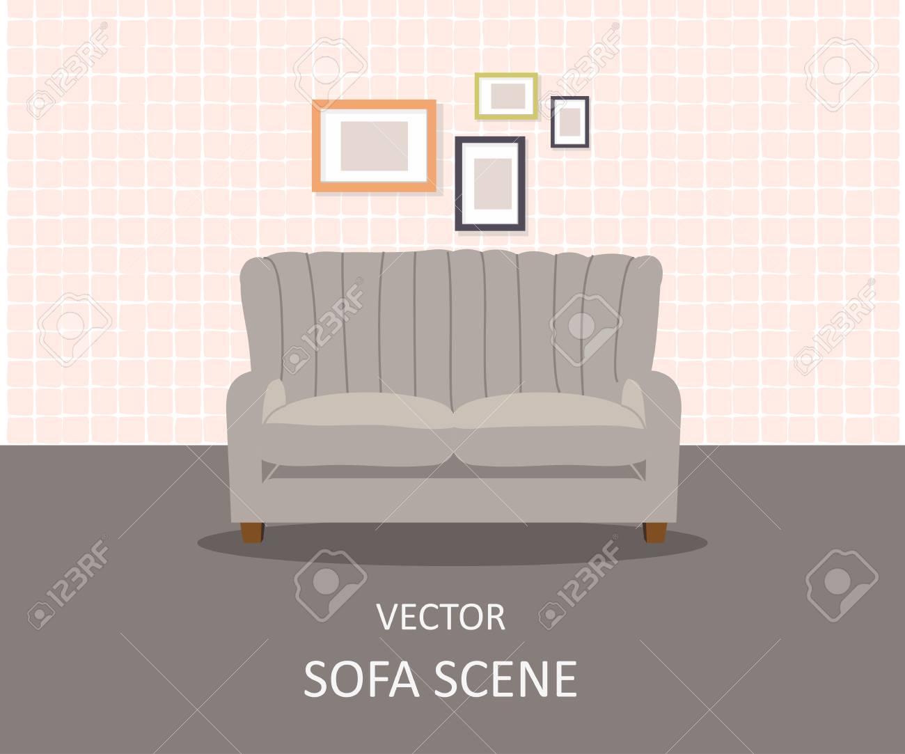 Home Interior. Interior Design Of A Living Room For Web Site, Print ...