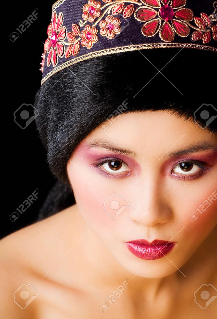 Asian model in ethnic headwear. Stock Photo - 38331503 db6583a289f