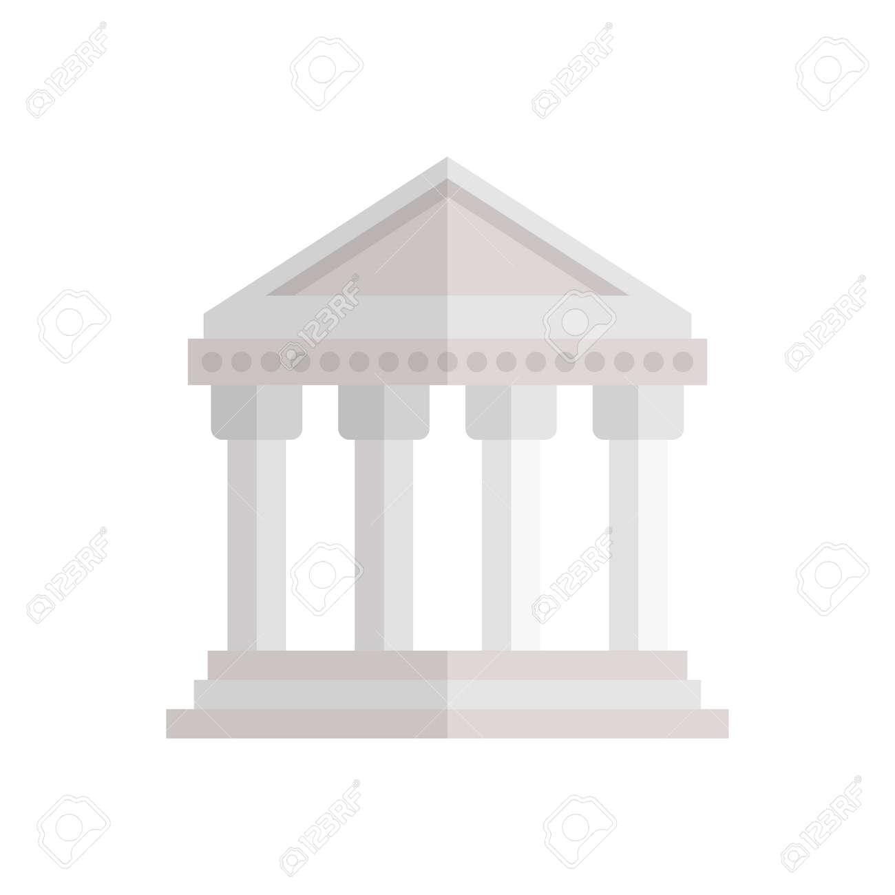 Athens building icon design - 155540212