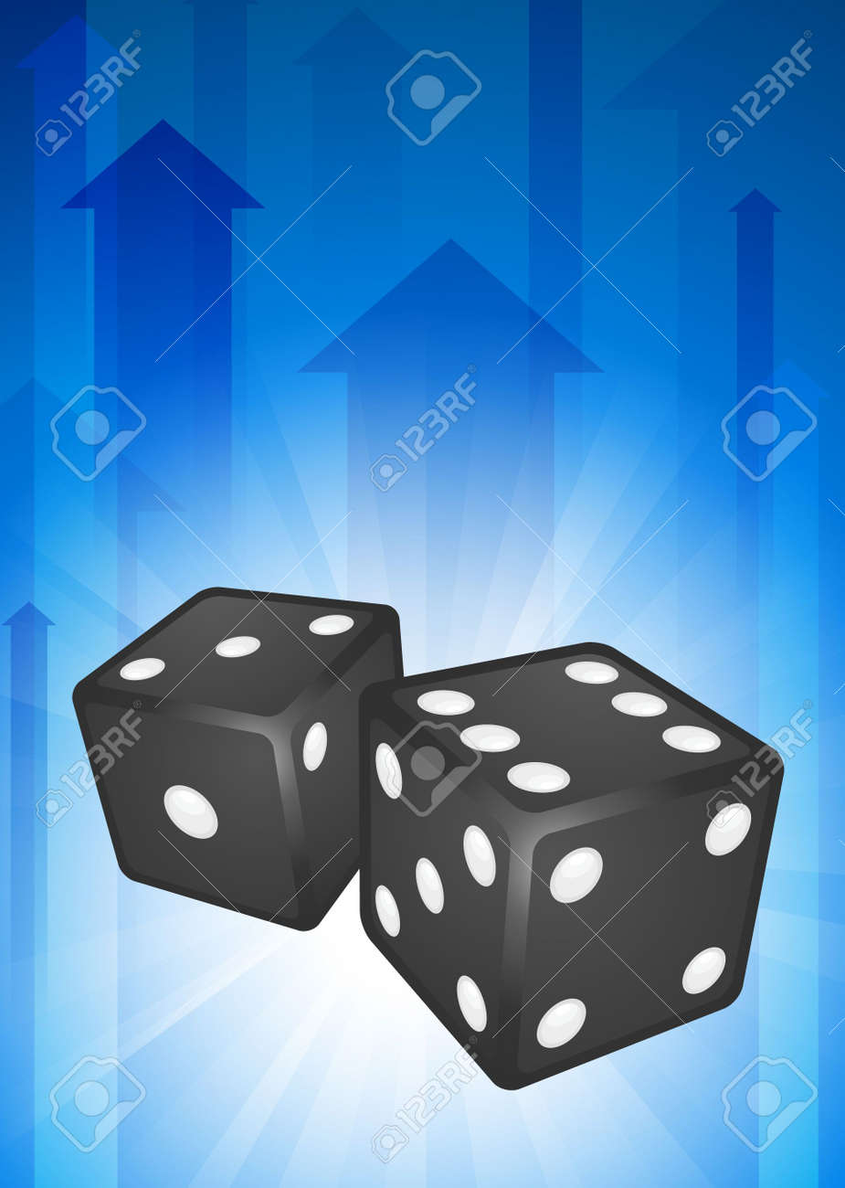 Dice on Blue Arrow BackgroundOriginal Vector Illustration Stock Illustration - 6441177