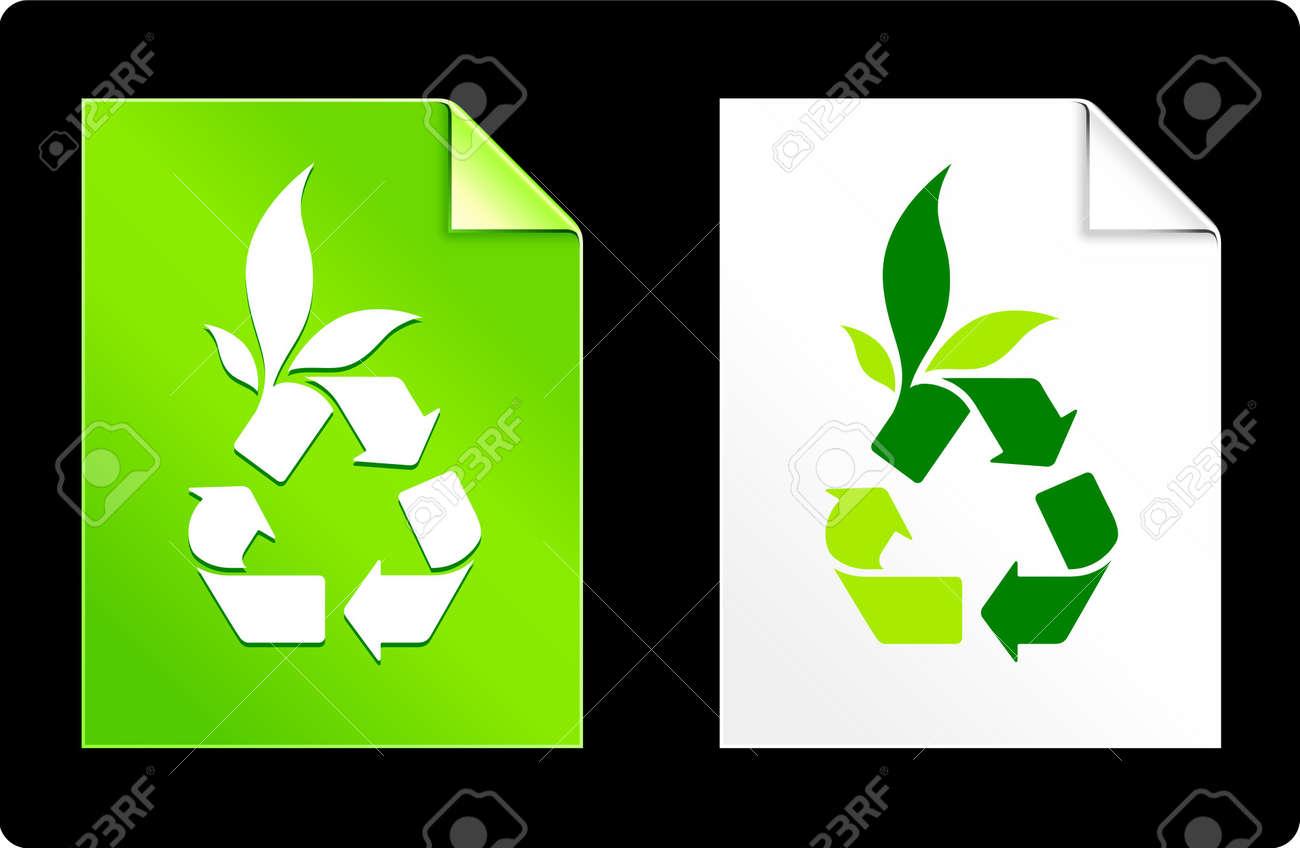 Recycle on Paper SetOriginal Vector IllustrationAI 8 Compatible File Stock Photo - 6523055