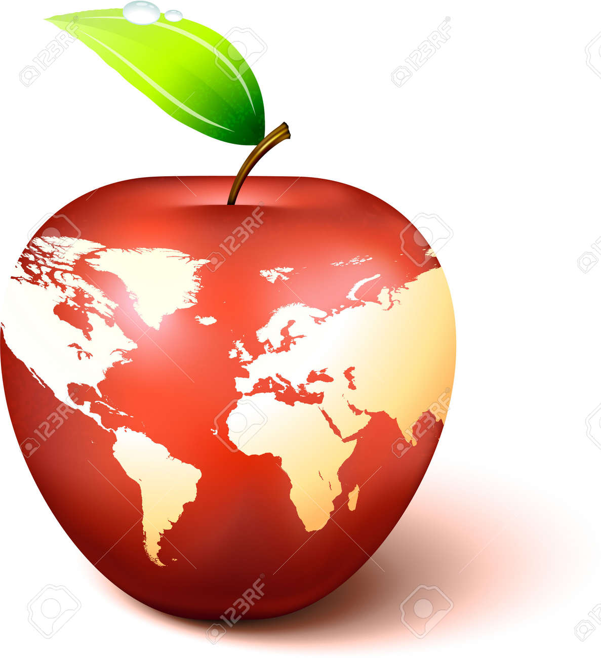 Apple globe with world map original vector illustration apple apple globe with world map original vector illustration apple illustration stock illustration 6572860 gumiabroncs Images