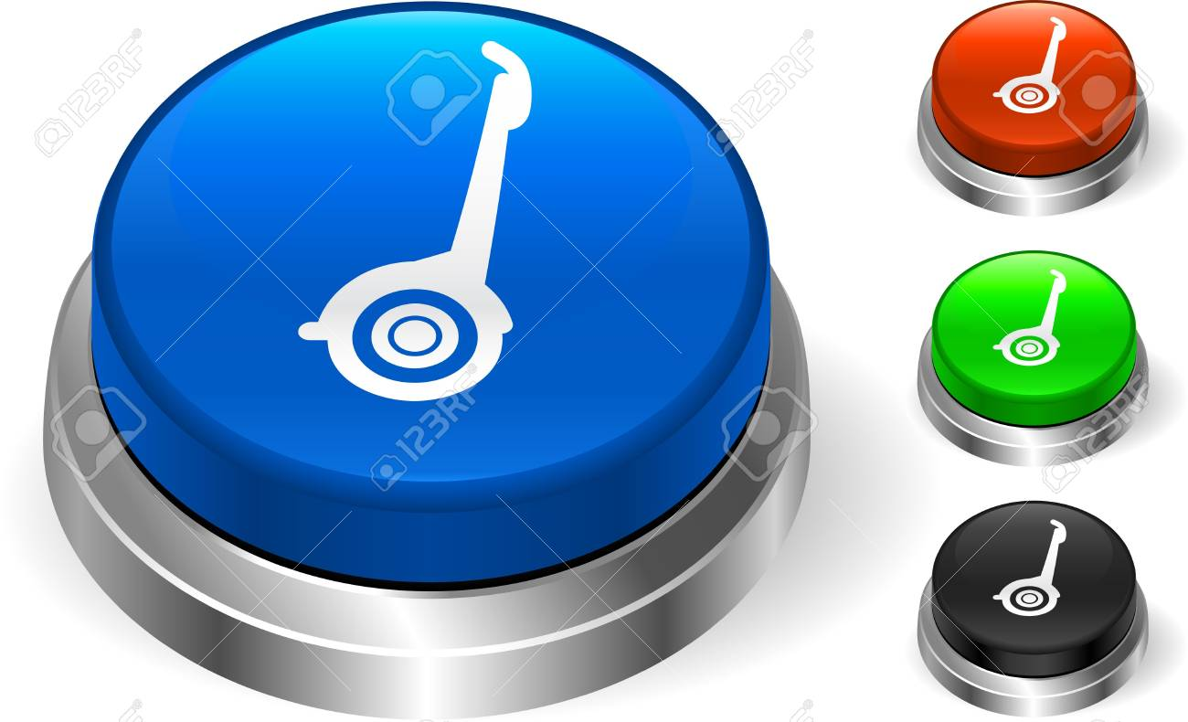 Segway Icon on Internet Button Original  Illustration Three Dimensional Buttons Stock Illustration - 6589634