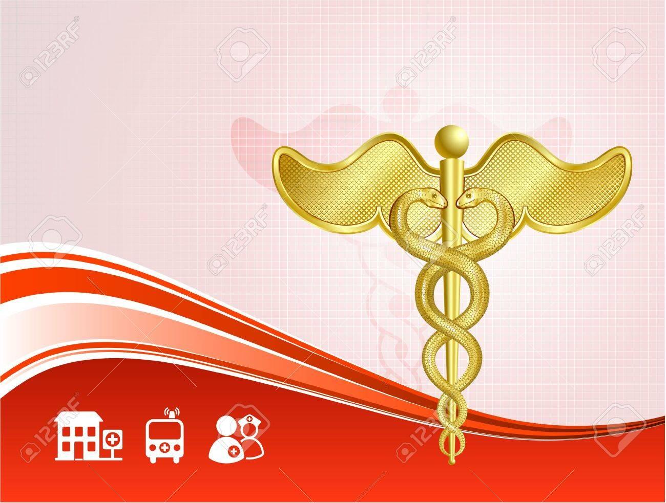Original Illustration: Medical health care background AI8 compatible Stock Illustration - 6605102