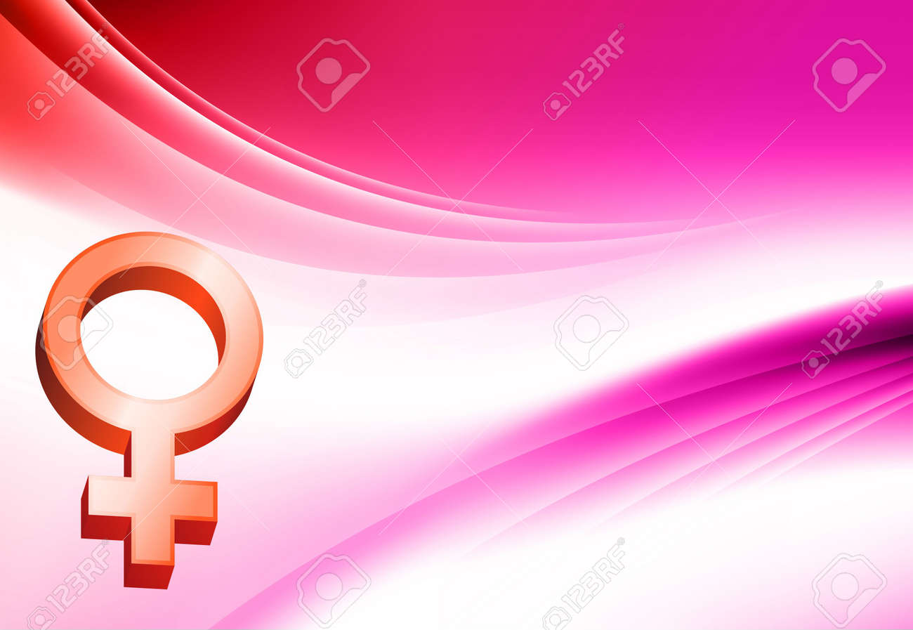Female Symbol on Abstract Color Background Original  Illustration Stock Illustration - 6619208