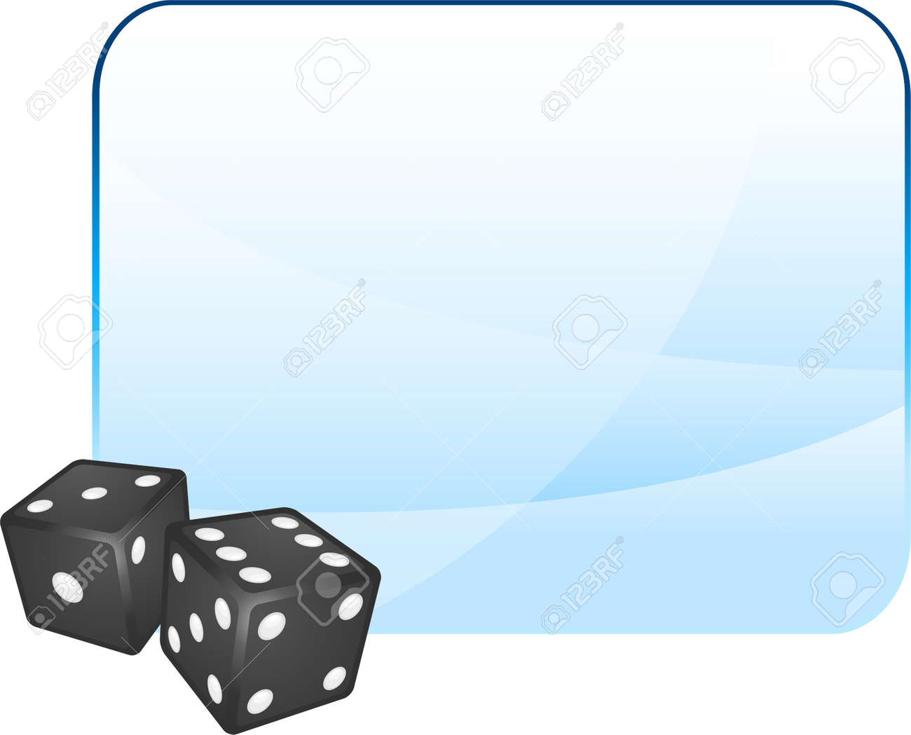 Black Dice on Blank Background Original Illustration Dice Ideal for Game Concept Stock Photo - 6619272
