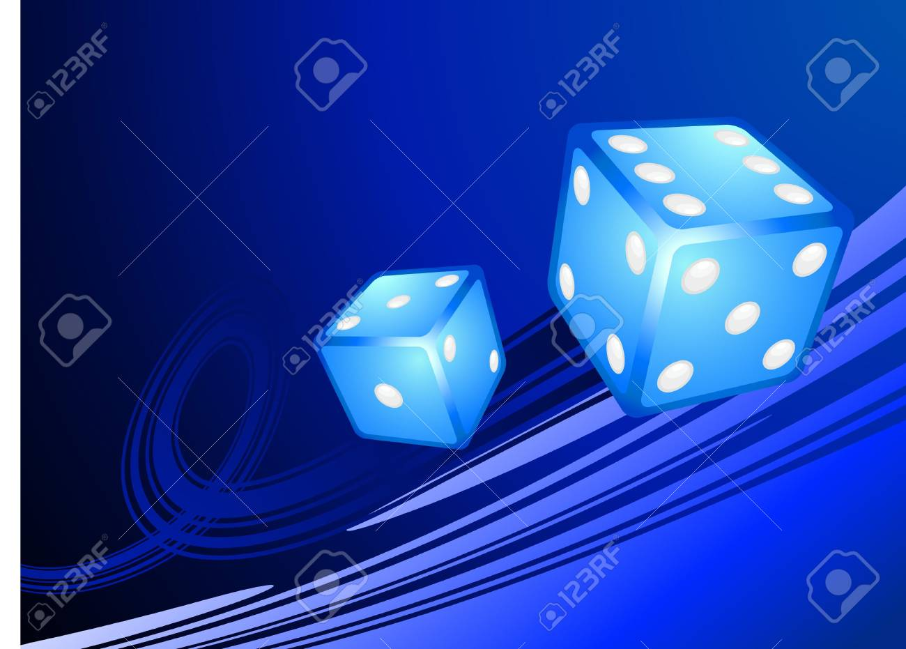 Blue Dice on Internet Background Original  Illustration Dice Ideal for Game Concept Stock Photo - 6618596