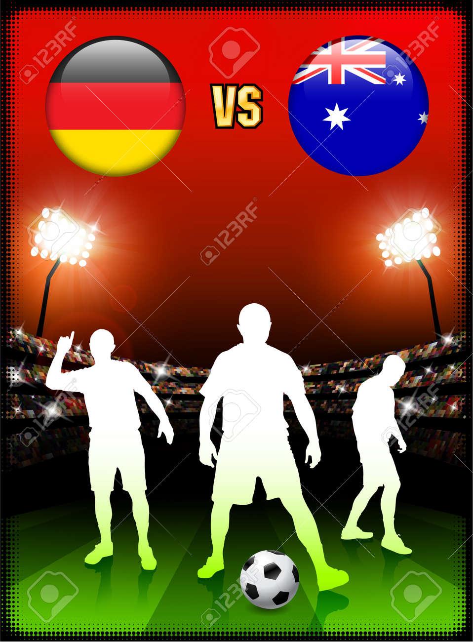 Germany versus Australia on Stadium Event BackgroundOriginal Illustration Stock Illustration - 7138062
