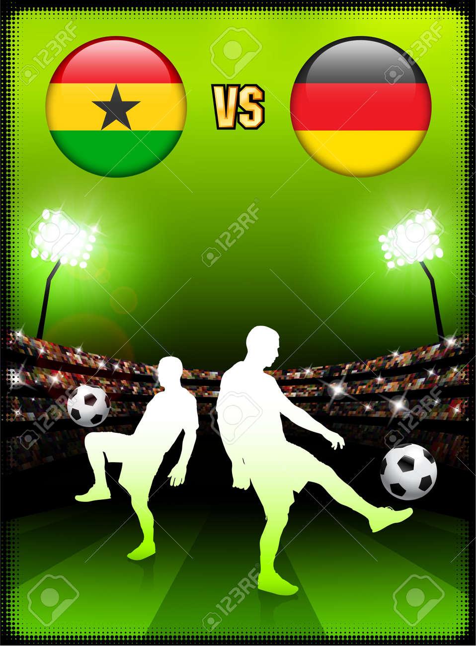 Ghana versus Germany on Stadium Event BackgroundOriginal Illustration Stock Illustration - 7138156
