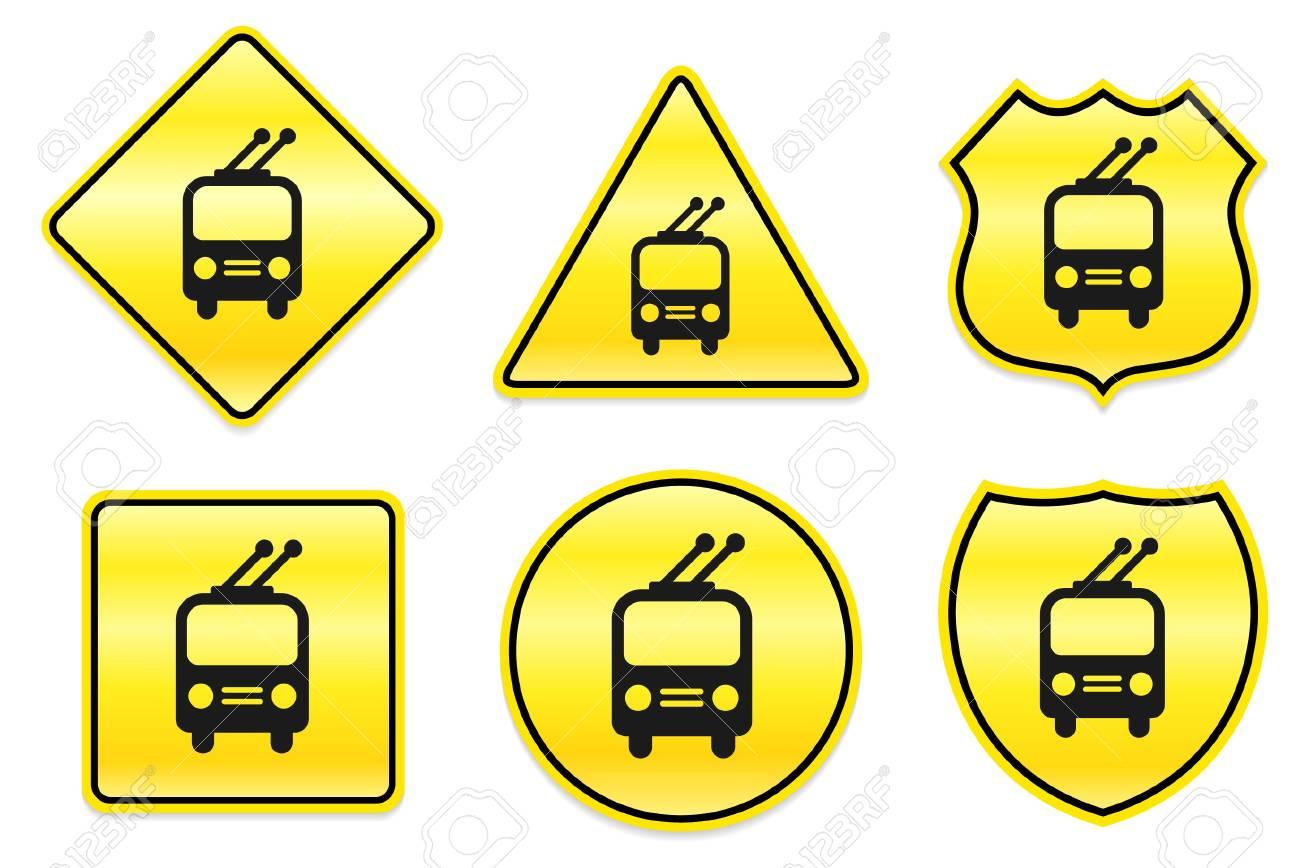 Railway Icon on Yellow DesignsOriginal Illustration Stock Photo - 7459853