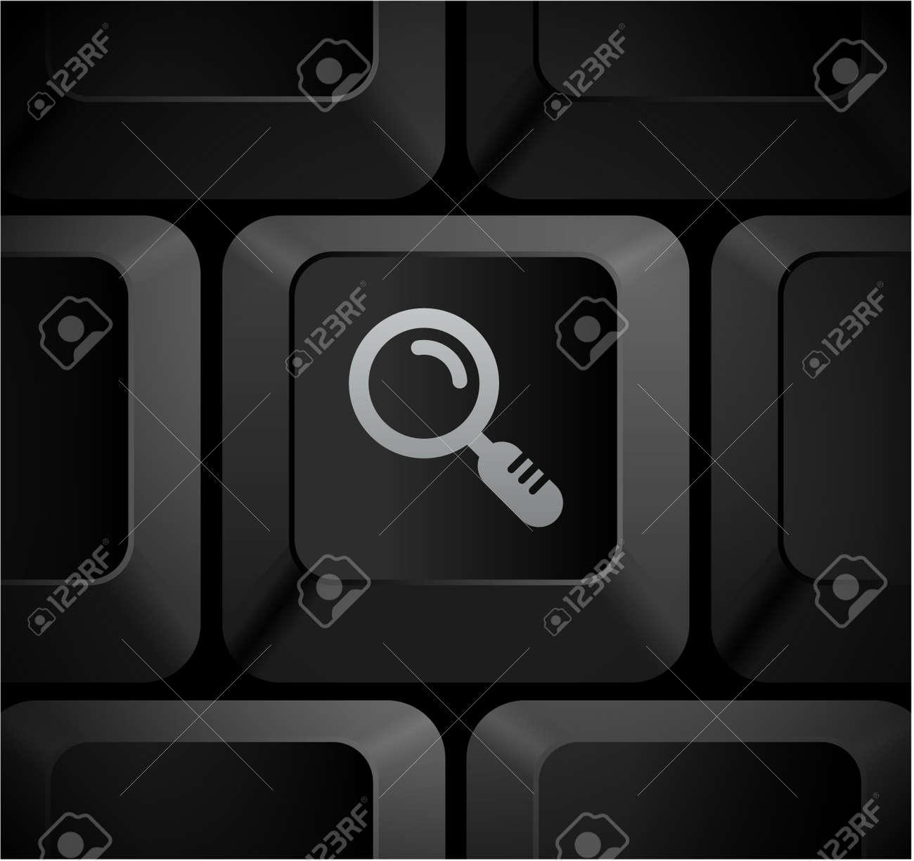 Magnifying Glass Icon on Computer KeyboardOriginal Illustration Stock Illustration - 7568220