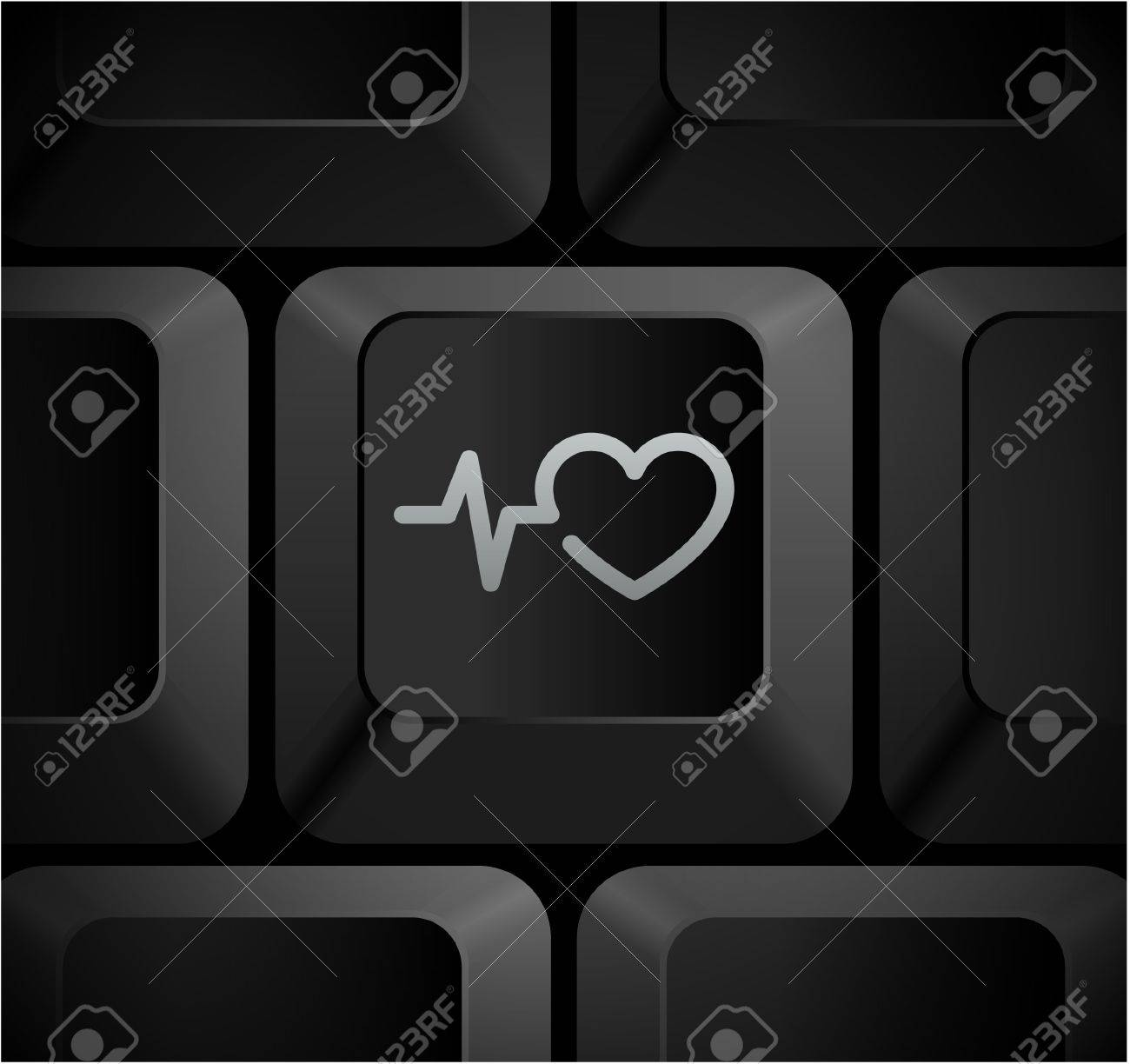 Pulse heart rate icon on computer keyboard original illustration pulse heart rate icon on computer keyboard original illustration stock illustration 7568203 buycottarizona Choice Image