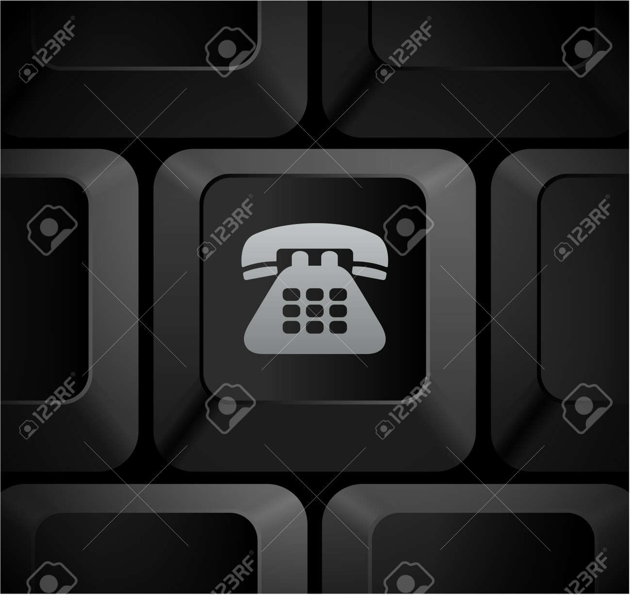 Telephone Icon On Computer Keyboard Original Illustration Stock