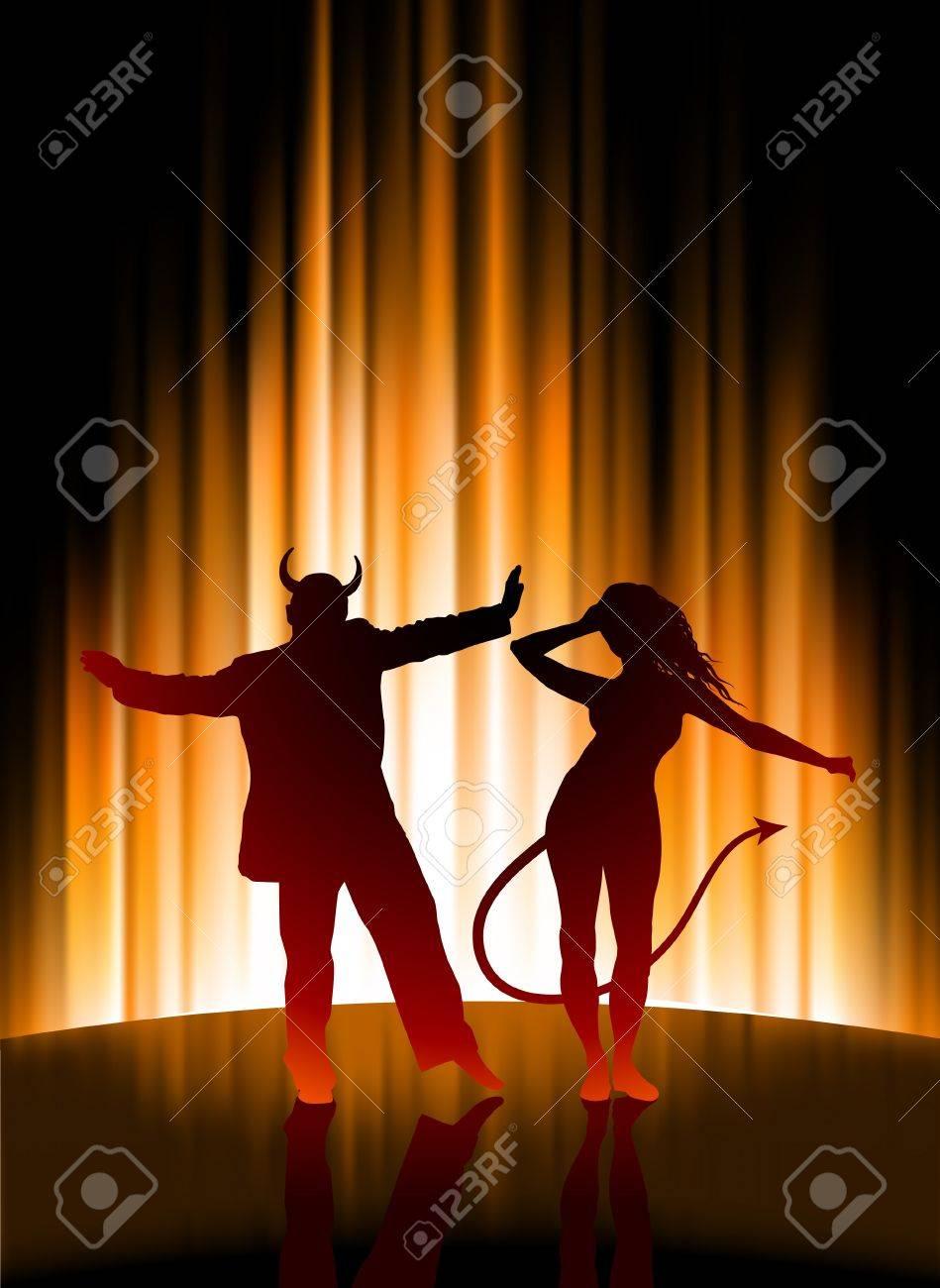 Hell Party on Abstract Spectrum BackgroundOriginal Illustration Stock Photo - 7569252