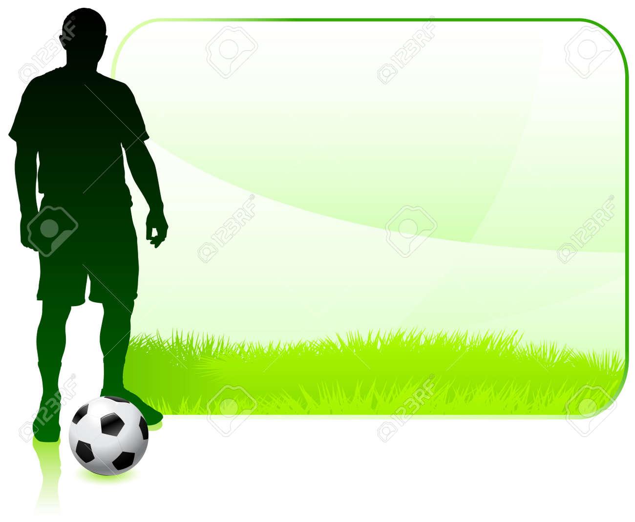 Soccer player on green nature frame original vector illustration soccer player on green nature frame original vector illustration stock vector 20482676 jeuxipadfo Images