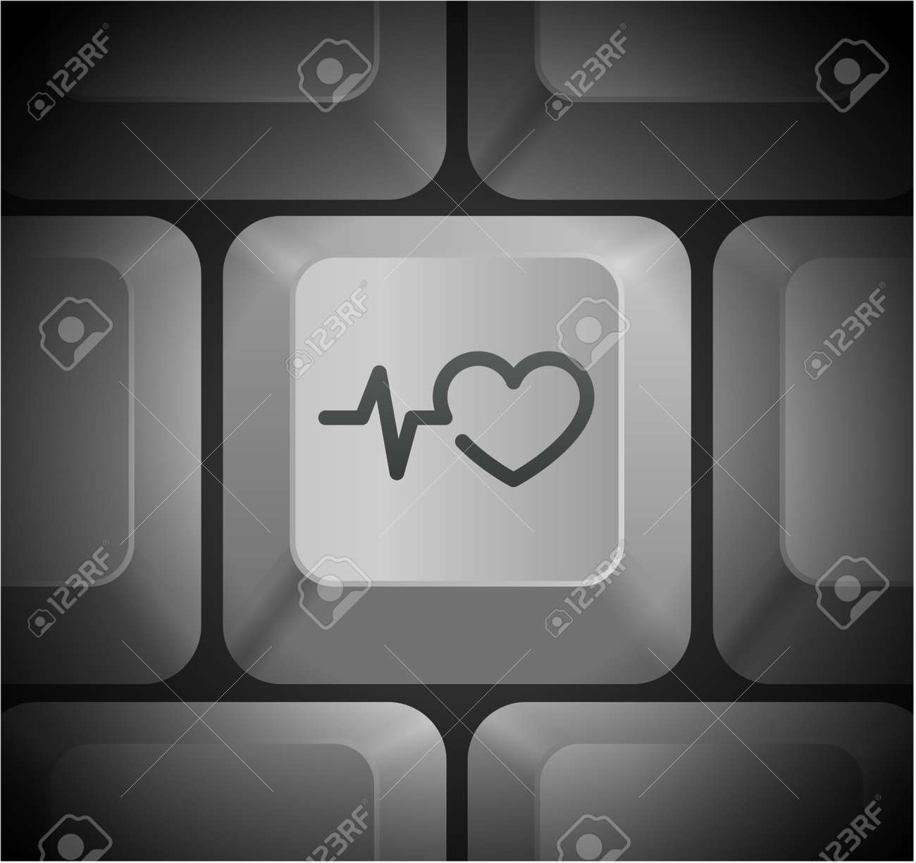Pulse heart rate icon on computer keyboard original illustration pulse heart rate icon on computer keyboard original illustration stock vector 22360205 buycottarizona Images