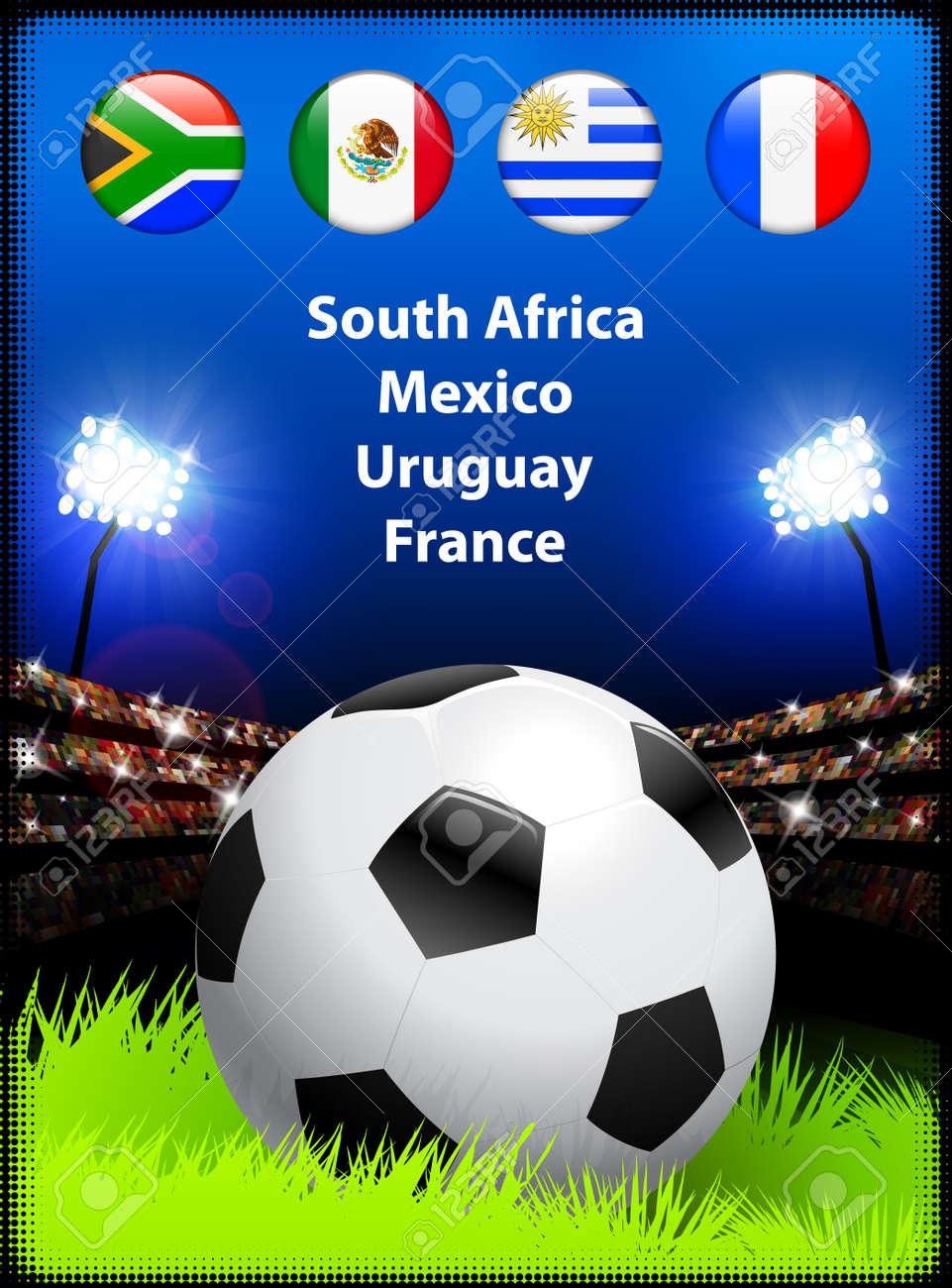 World Soccer Compeition Group AOriginal Illustration Stock Vector - 22423270