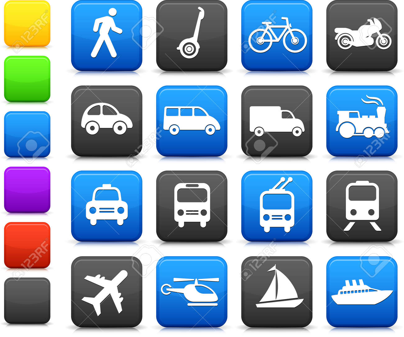 Original vector illustration: Transportation icons design elements Stock Vector - 22419234