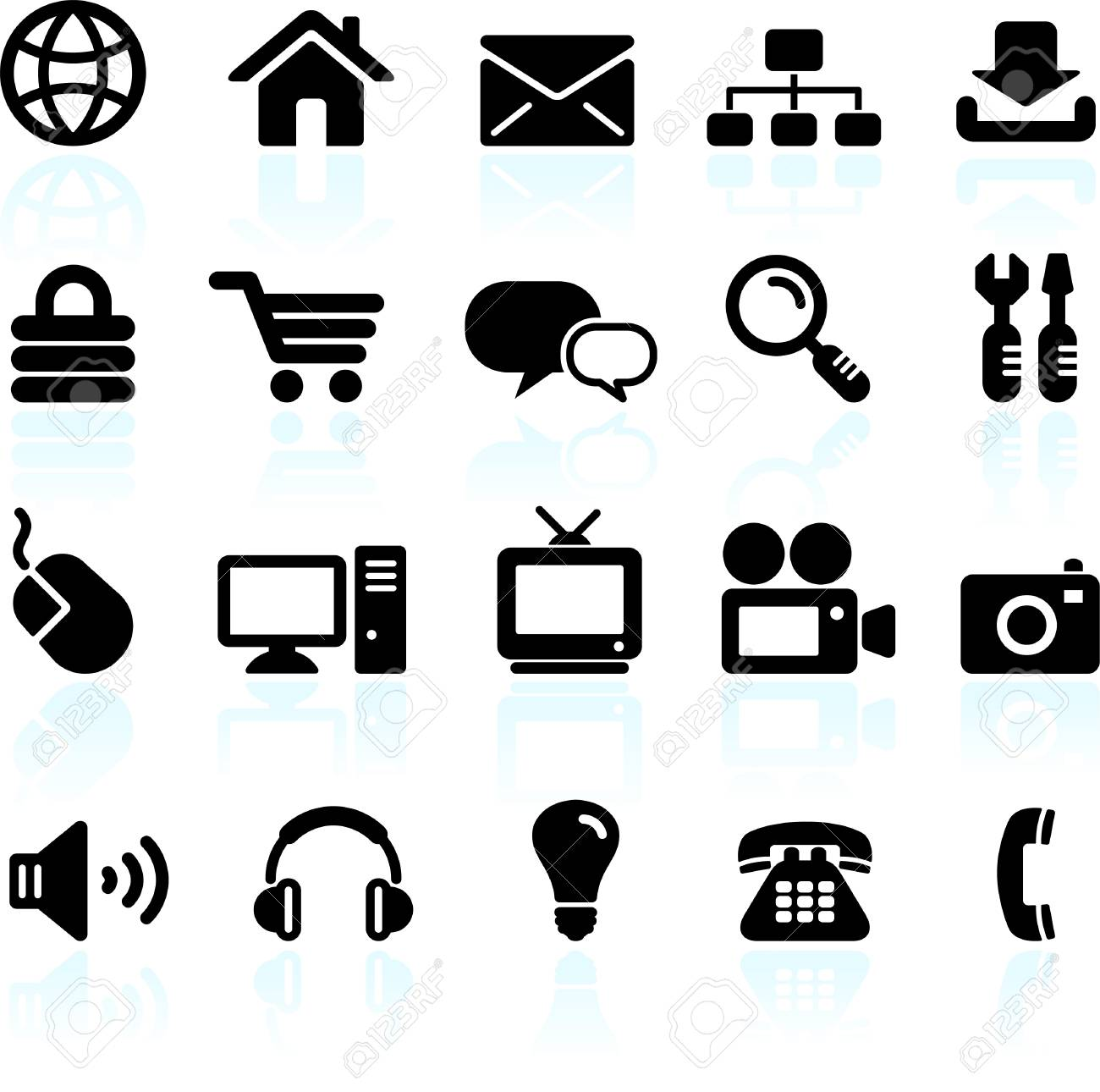 Original vector illustration: internet design icon set Stock Vector - 22419698