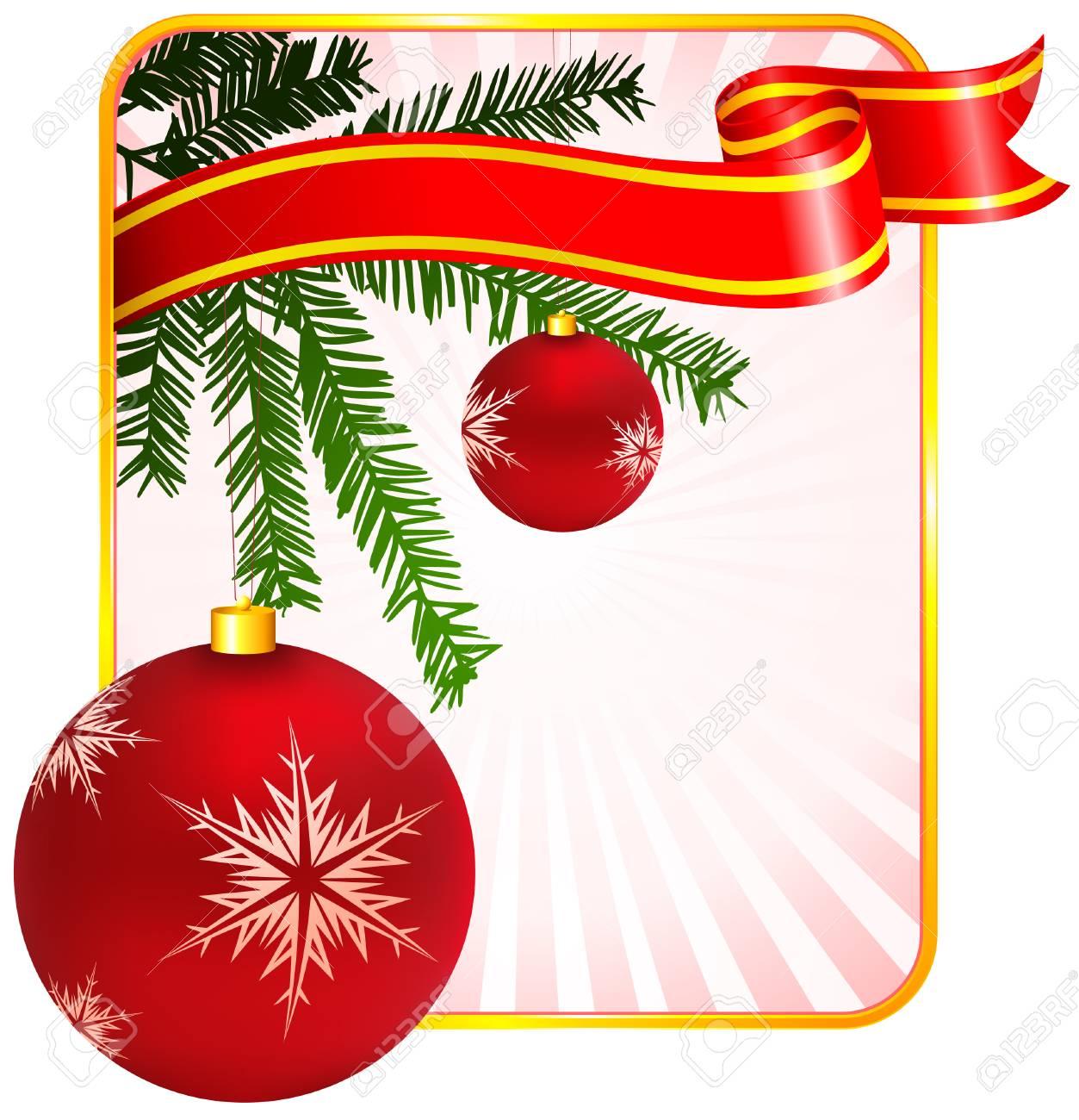 休日の背景にクリスマスの飾りツリー オリジナルのベクター イラスト