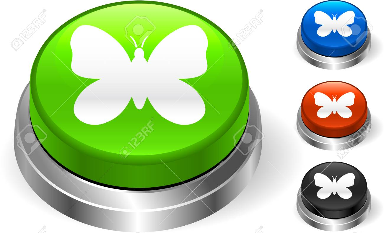 butterfly icon on internet button