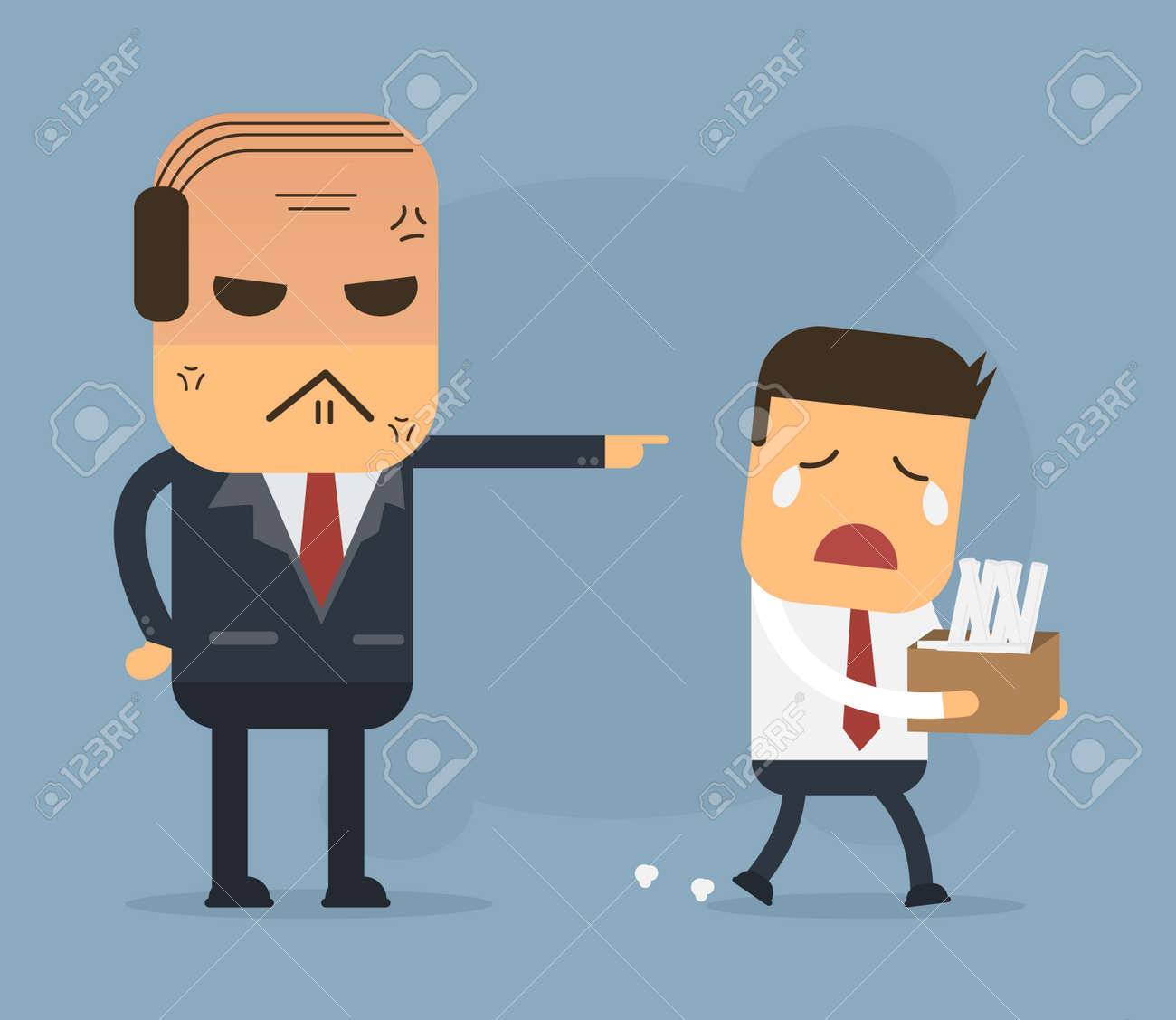 employees getting fired by boss vector cartoon concept abstract employees getting fired by boss vector cartoon concept abstract business stock vector 35085709
