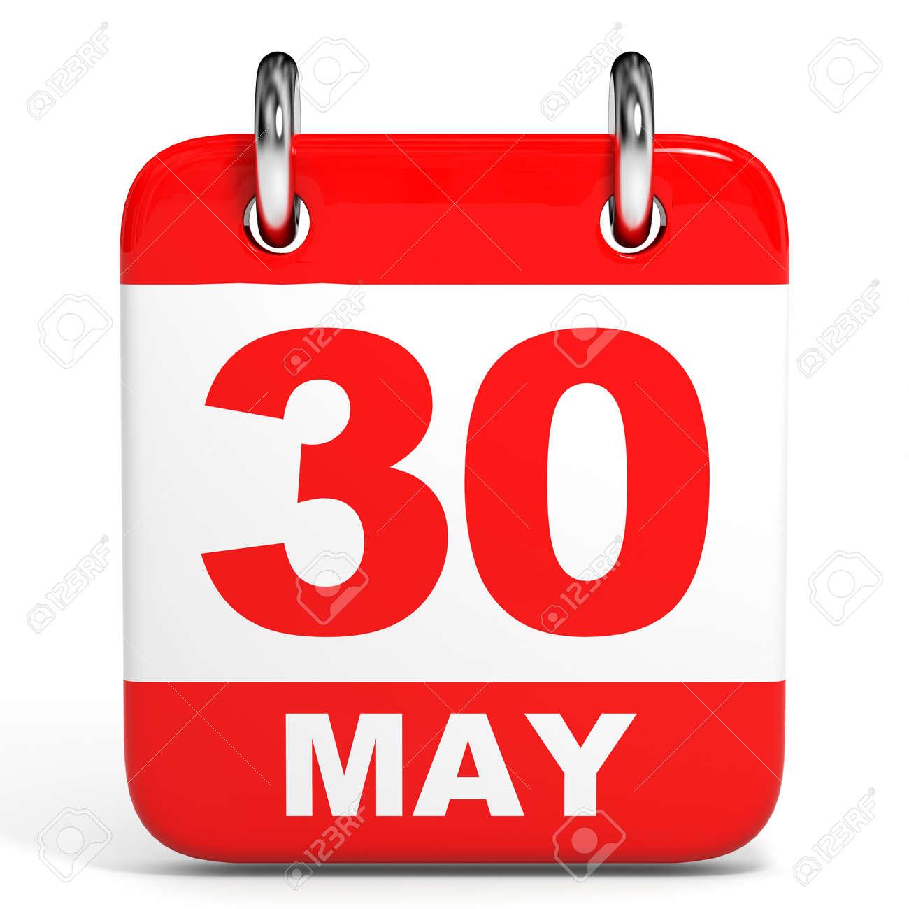 calendar on white background 30 may 3d illustration stock photo rh 123rf com