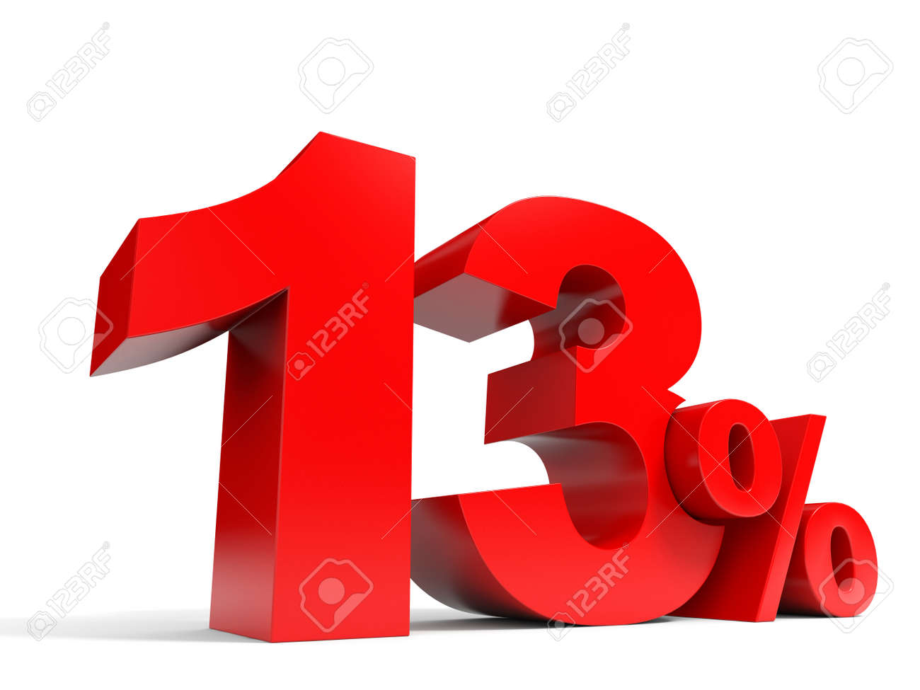 Red Thirpercent Off Discount 13 3d Il Ration Stock Il Ration 30890617