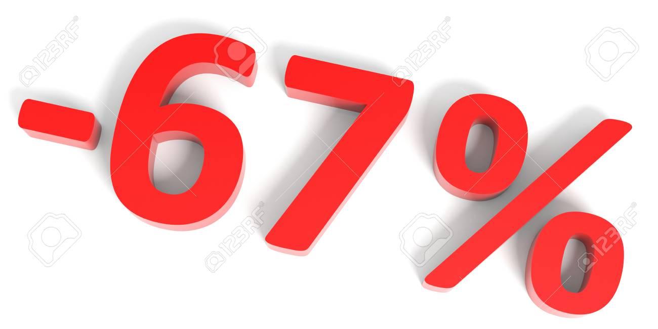 8ac009ebb730 Discount 67 percent off sale. 3D illustration. Stock Illustration - 52903279