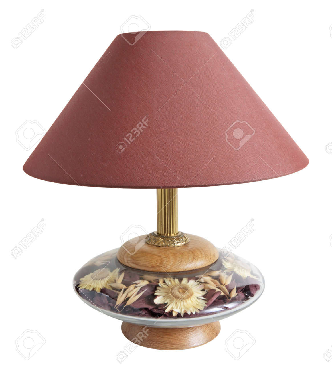 Desk lamp with a lamp shade, isolated on a white background Stock Photo - 22063967