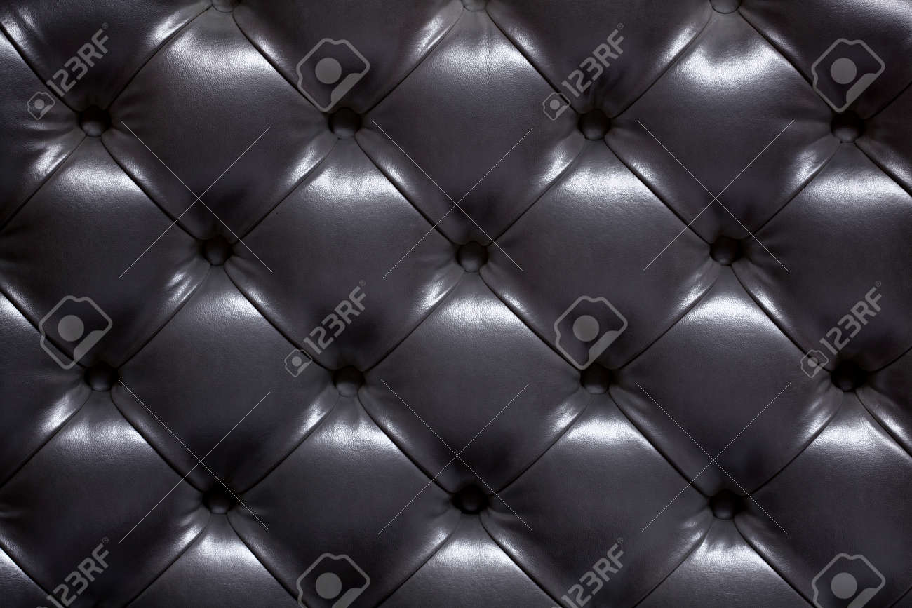 Black Leather Upholstery Of A Sofa Stock Photo Picture And Royalty