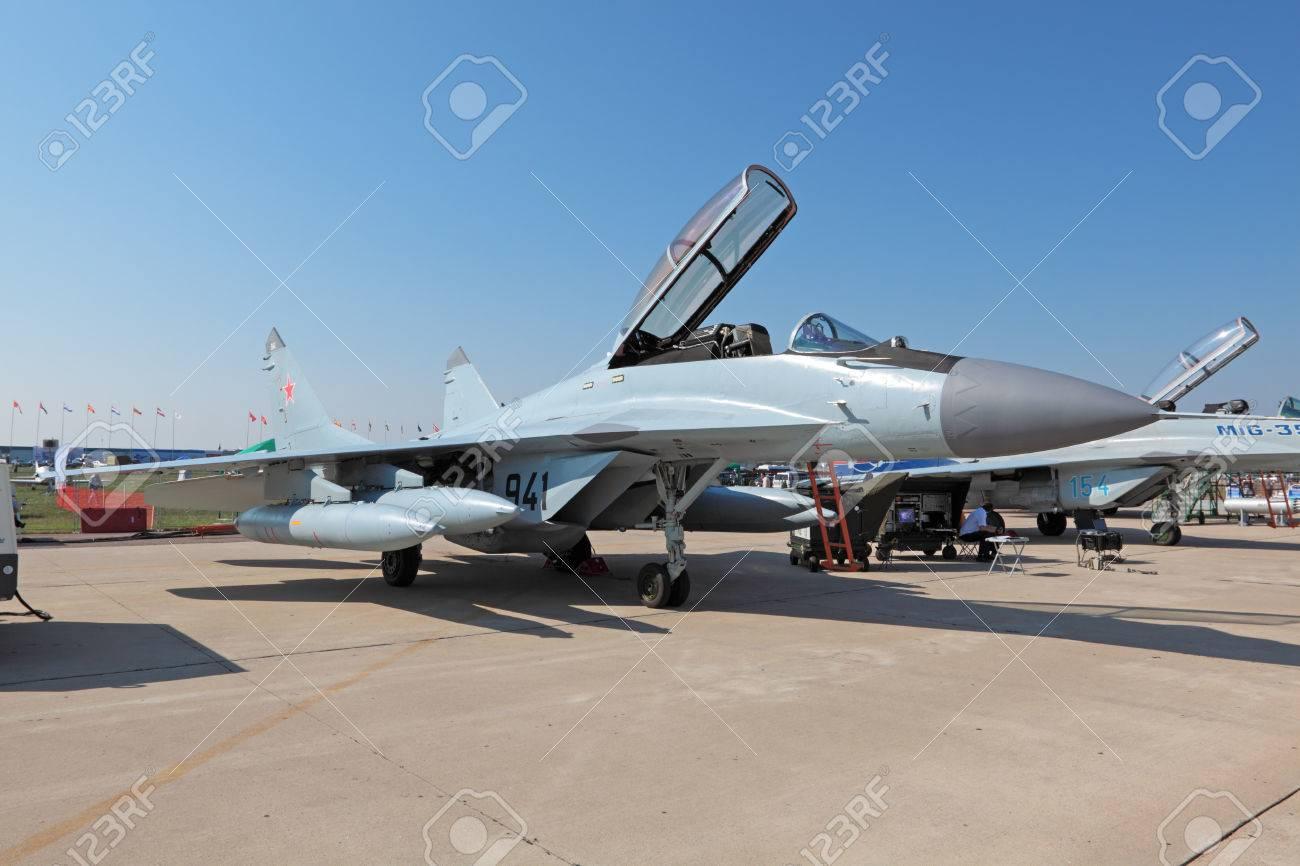 ZHUKOVSKY, RUSSIA - AUG 16: Mikoyan MiG-29