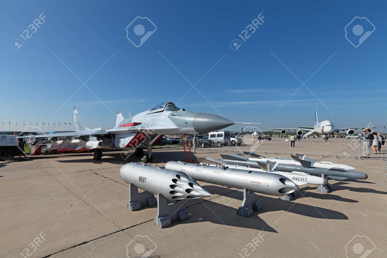 ZHUKOVSKY, RUSSIA - AUG 28, 2013: Mikoyan MiG-29 SMT