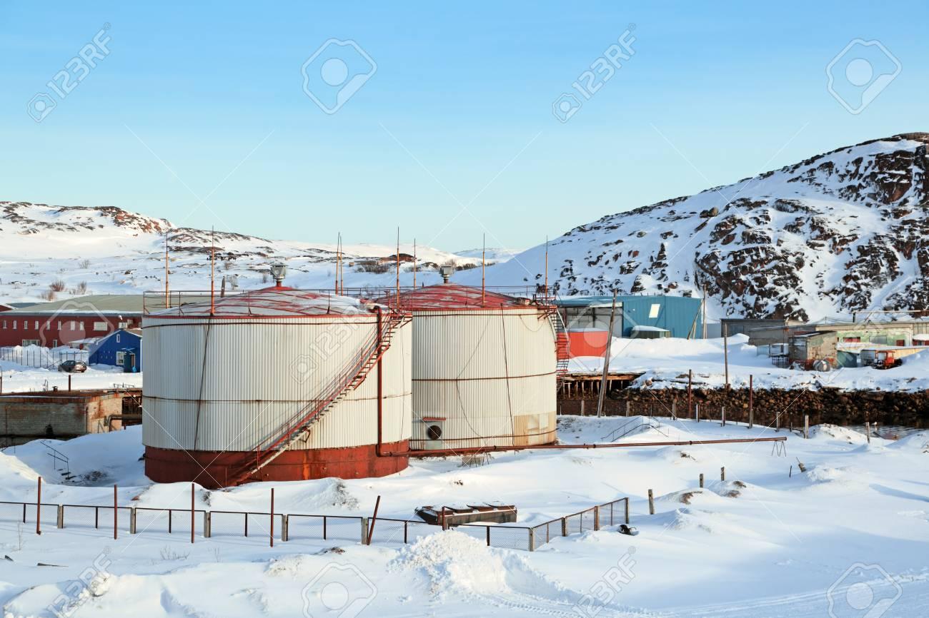 Tanks With Fuel For The Boiler, The Village Of Teriberka, Murmansk ...